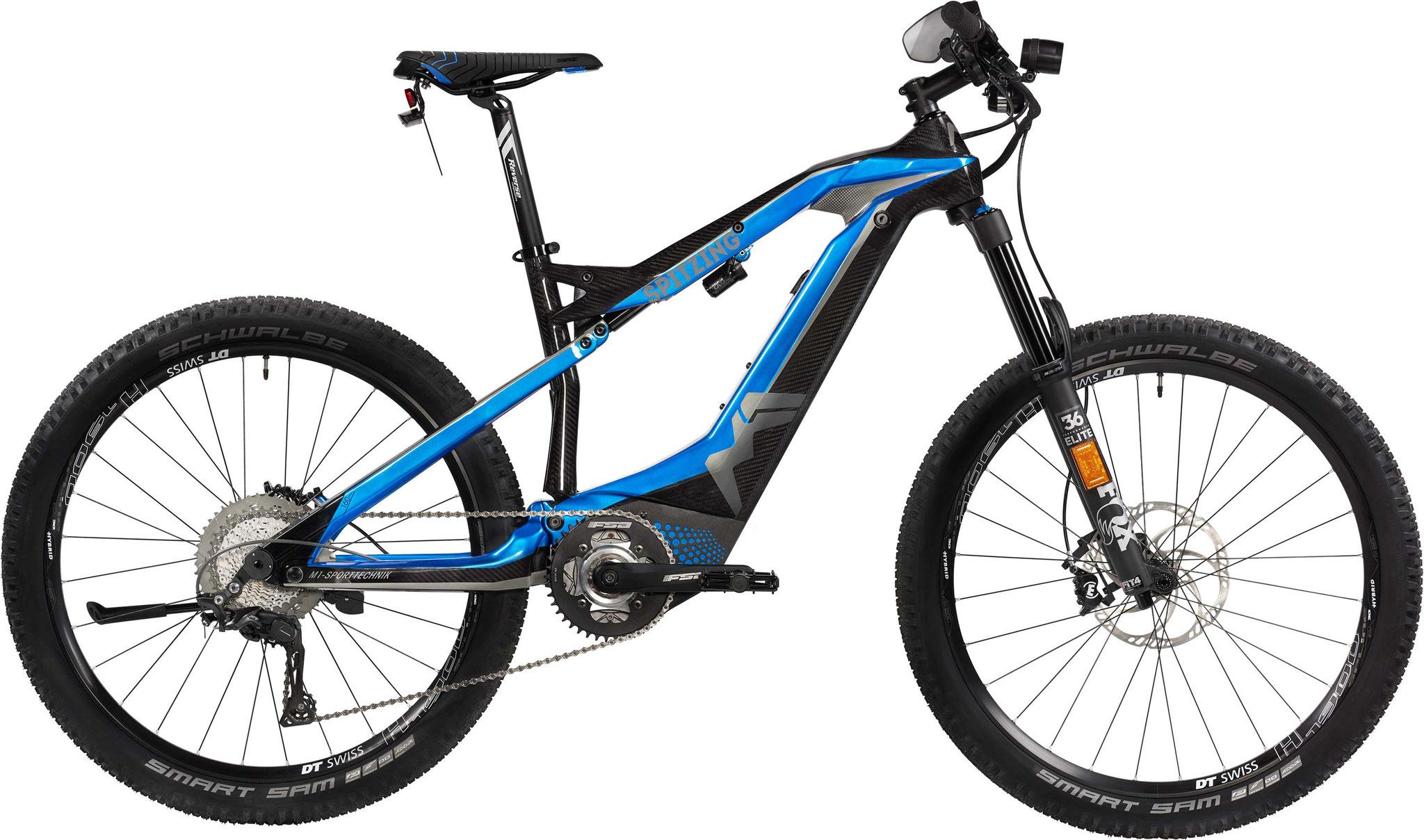 M1 Spitzing Evolution S-Pedelec 2020 - candy blue/carbon