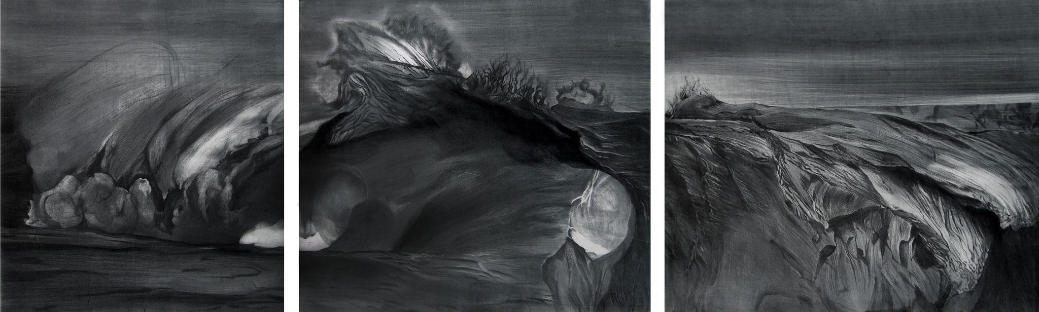 Série Les Enigmes, triptyque I gravure imprimée sur papier Fabriano I 56 x 206 cm I 2017