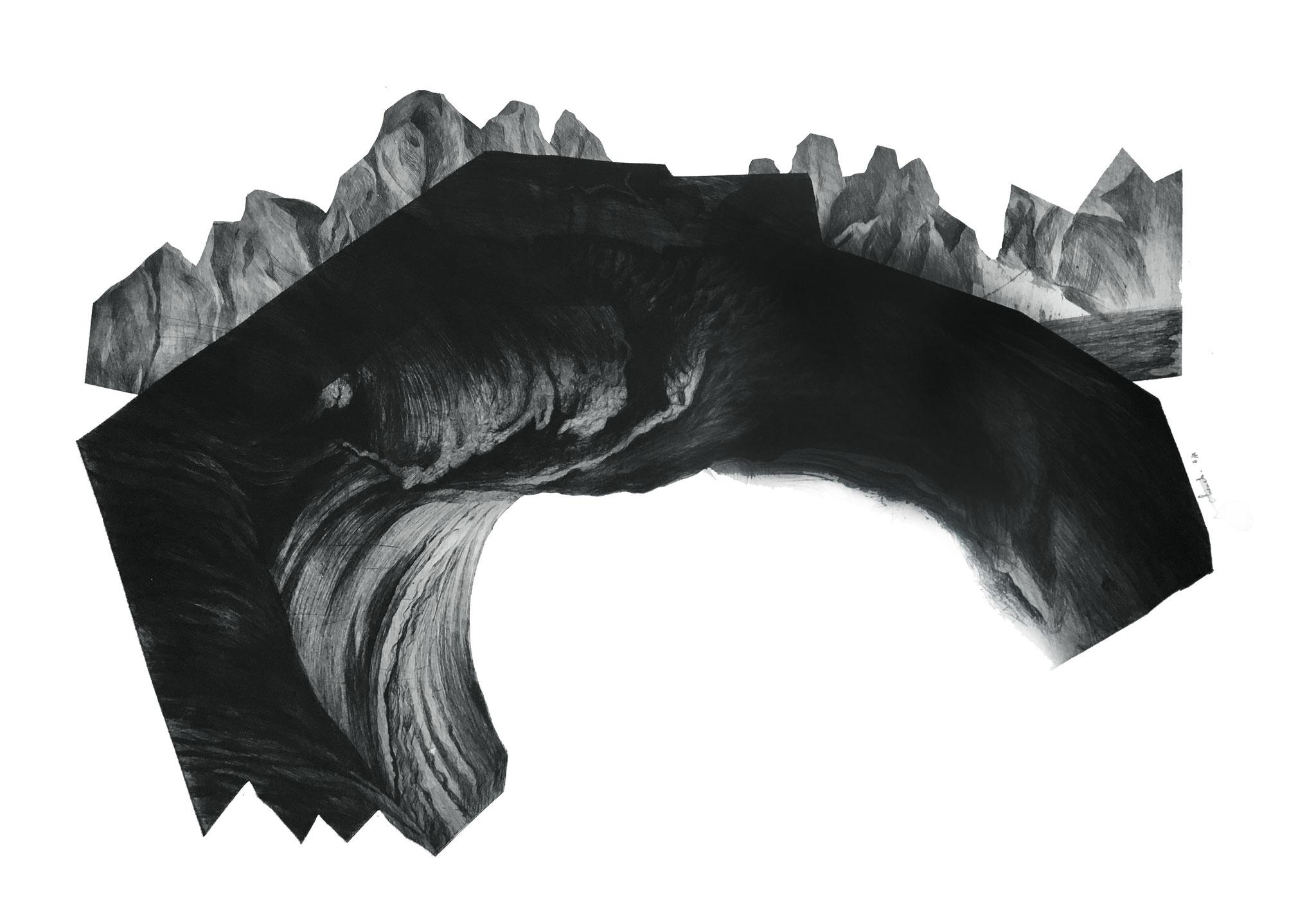 Série Les Enigmes, 3 I pointe sèche sur papier Fabriano I Epreuve d'artiste I 56 x 76 cm I 2017