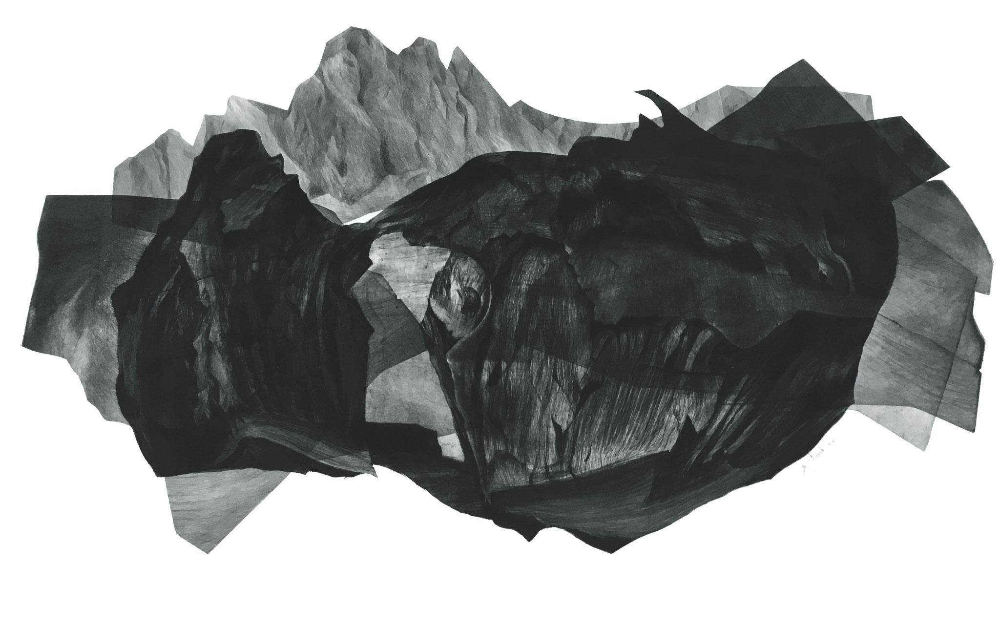 Les Enigmes I pointe sèche sur papier Fabriano I Epreuve d'artiste I 56 x 76 cm I 2017