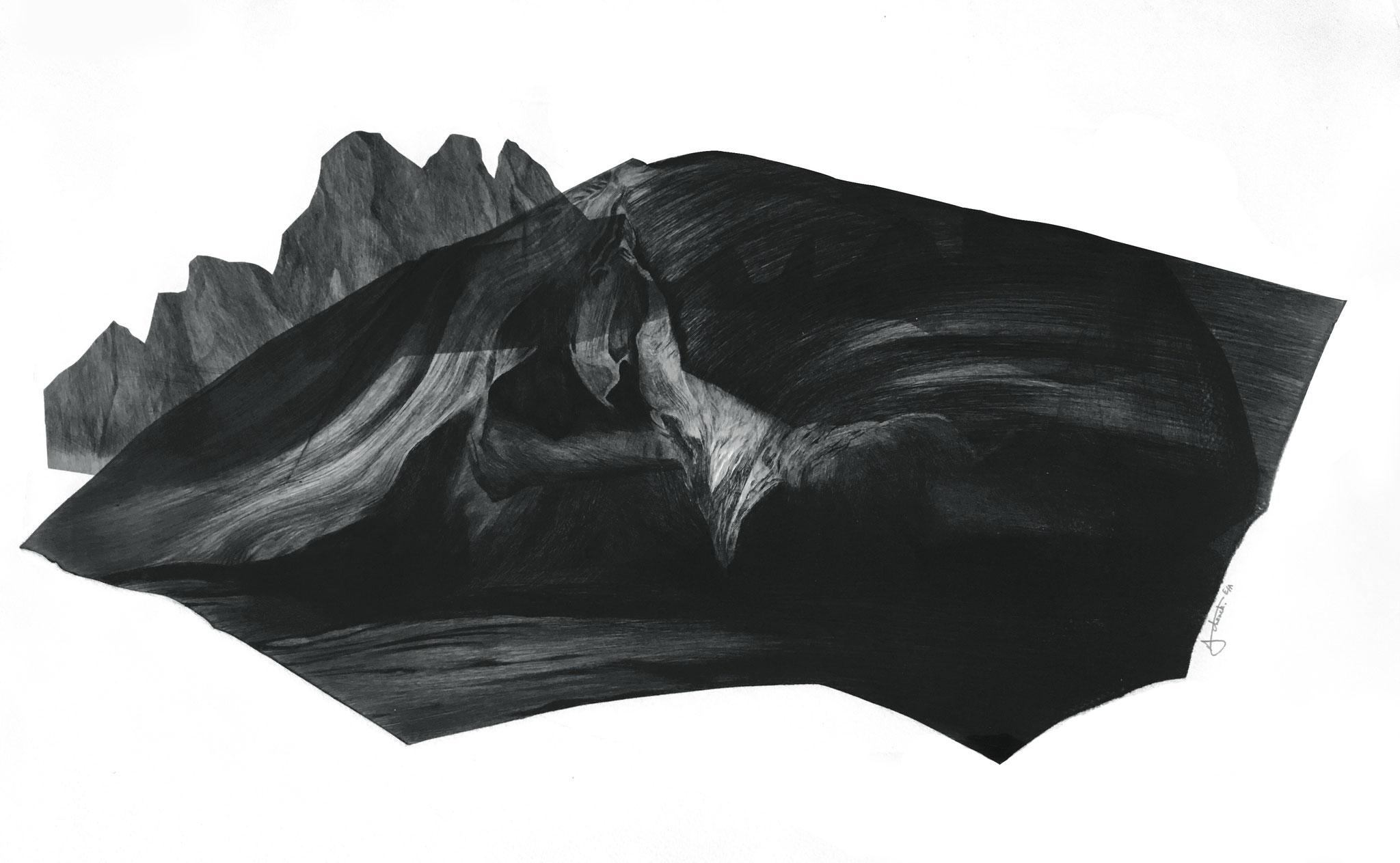 Série Les Enigmes, 1 I pointe sèche sur papier Fabriano I Epreuve d'artiste I 56 x 76 cm I 2017