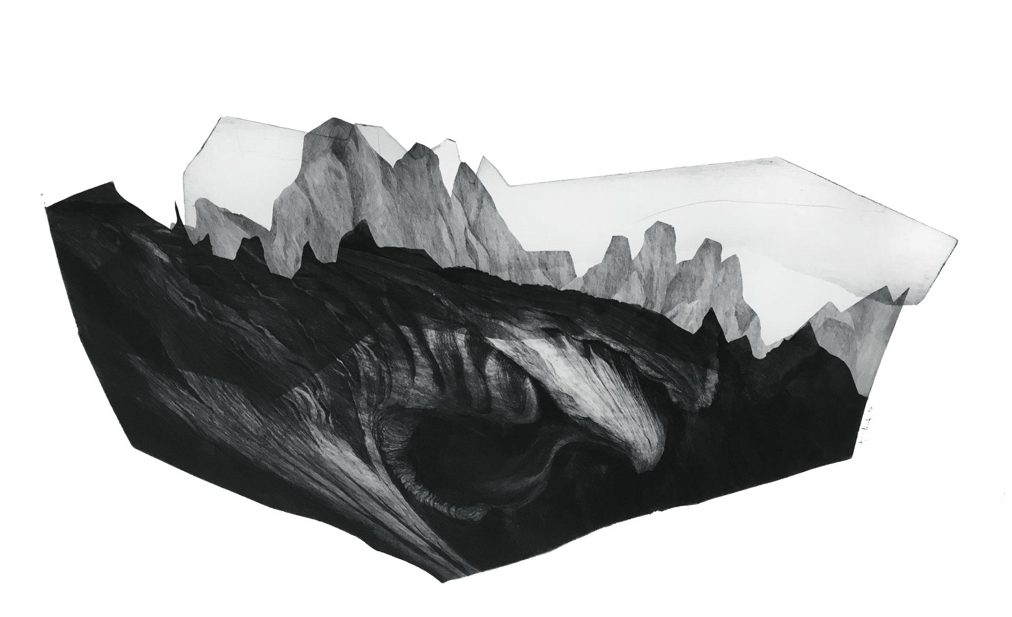 Série Les Enigmes, 2 I pointe sèche sur papier Fabriano I Epreuve d'artiste I 56 x 76 cm I 2017