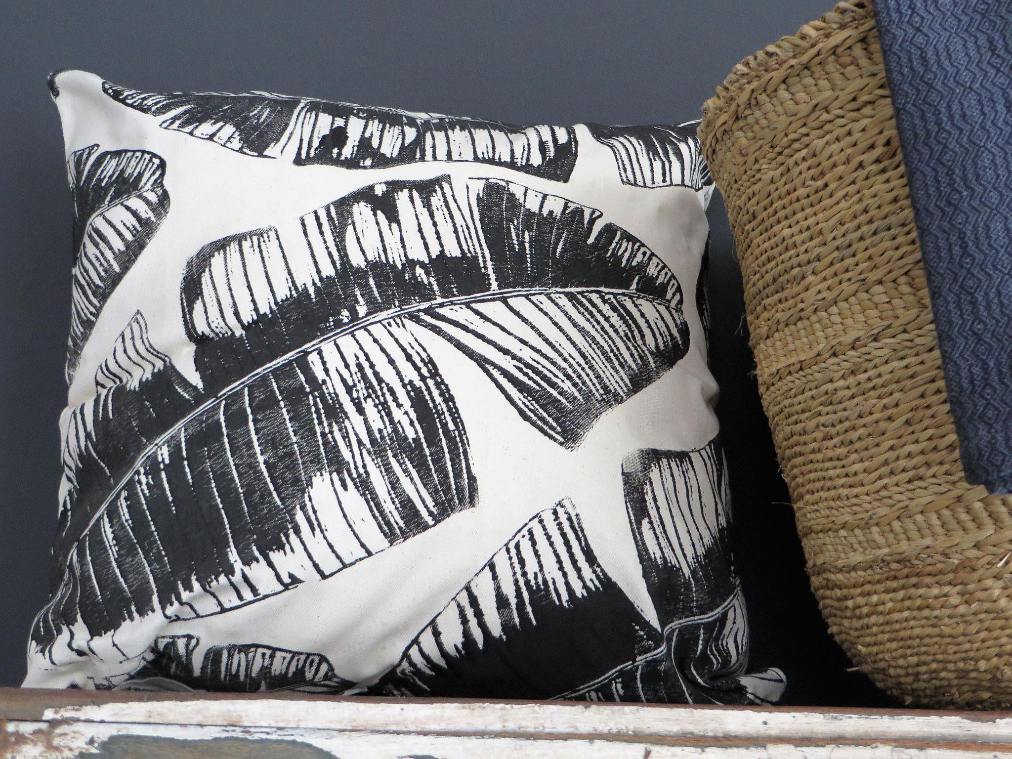 "Cushion Cover ""Banana Leaf"""