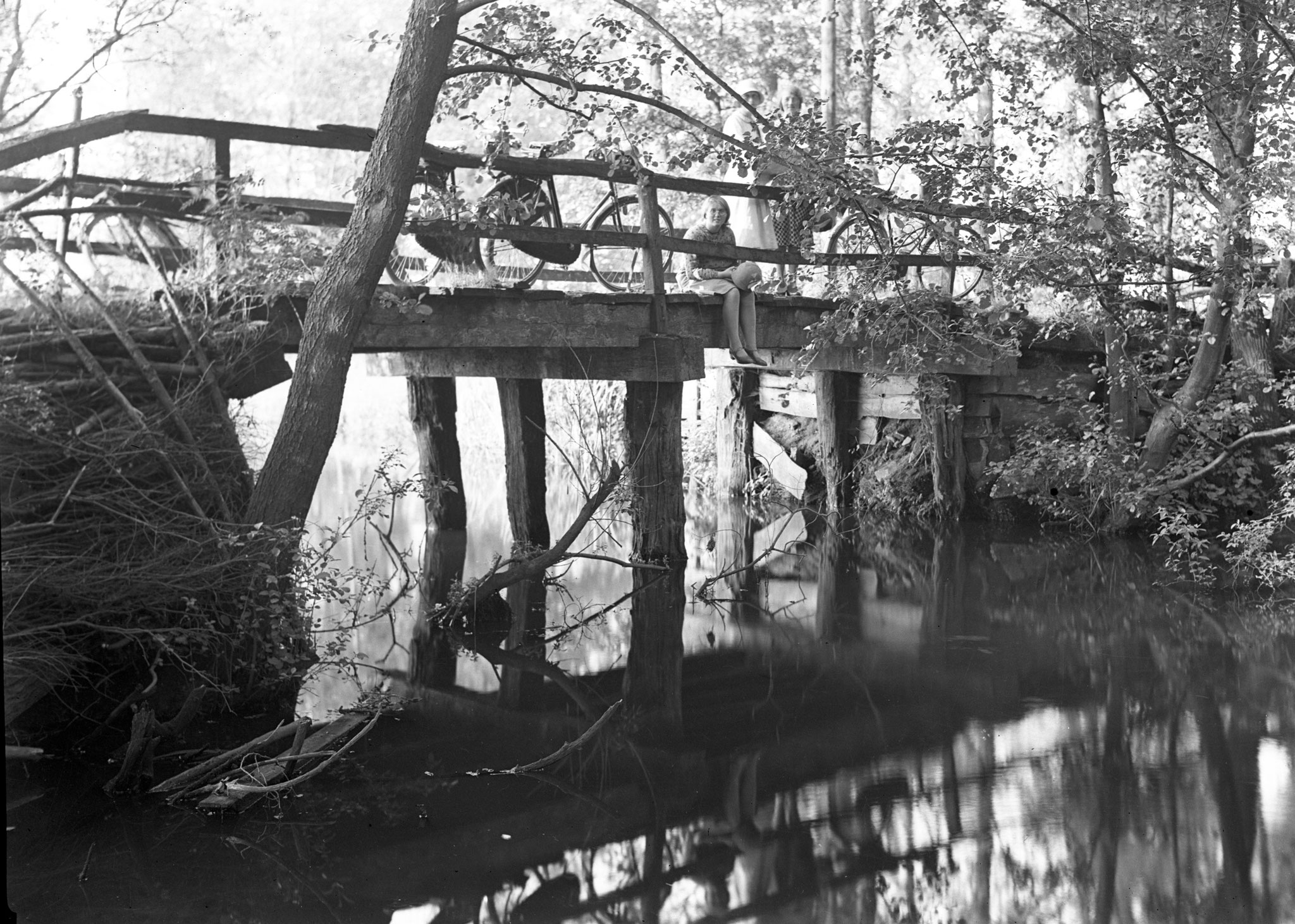 verdwenen brug over Schoonebeekerdiep bij Nieuw-Schoonebeek