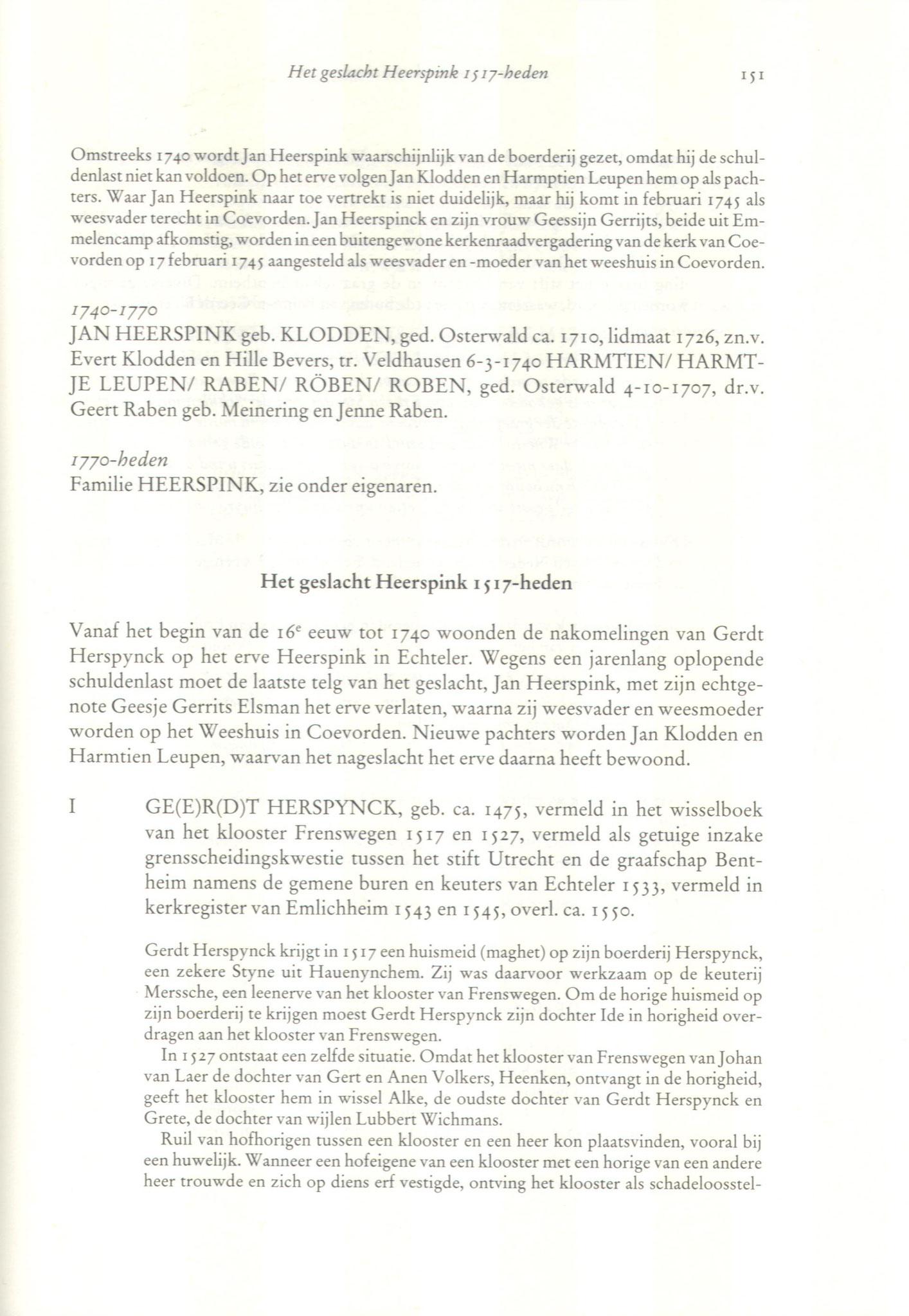fragment Heerspink te Echteler