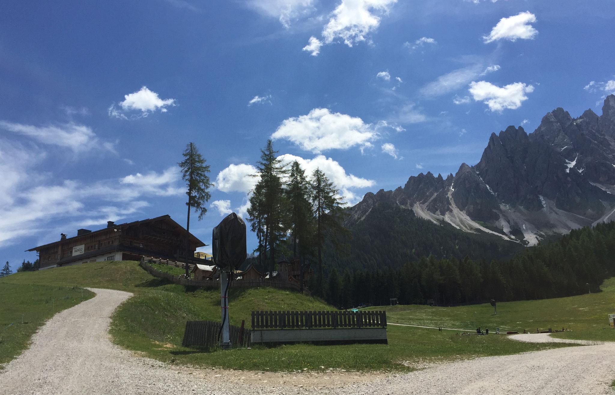 Dürrensteinhütte in Sicht