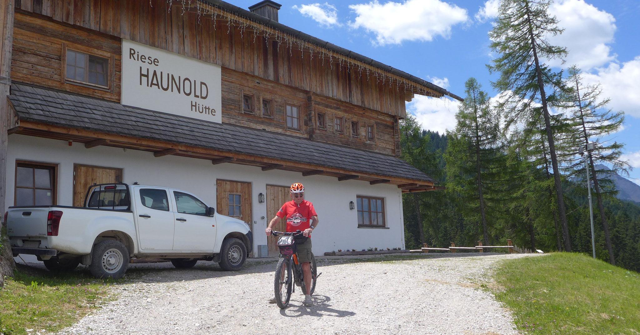 Abfahrt von der Haunold Hütte