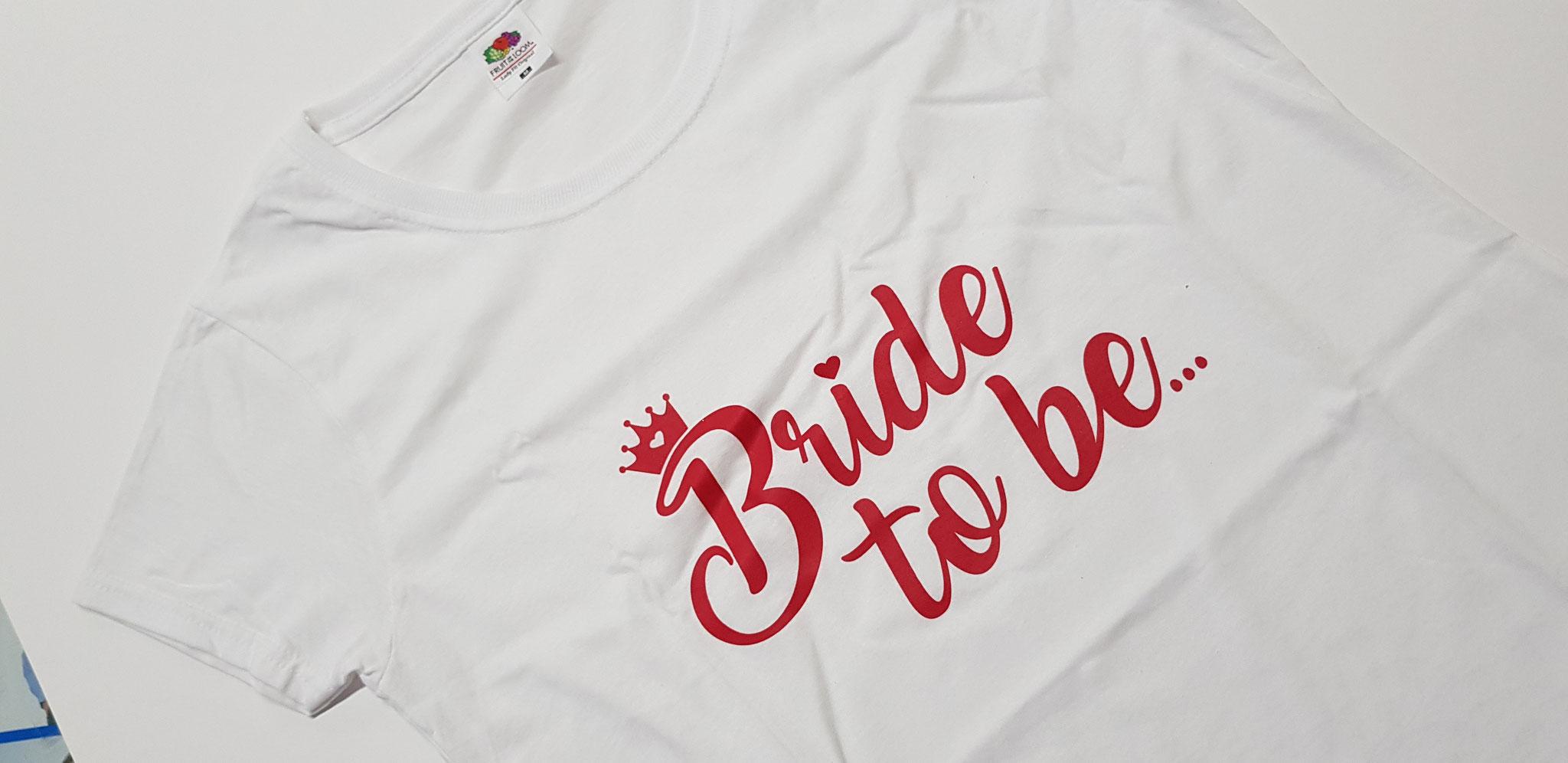 Stampa bianca per festa addio nubilato sposa