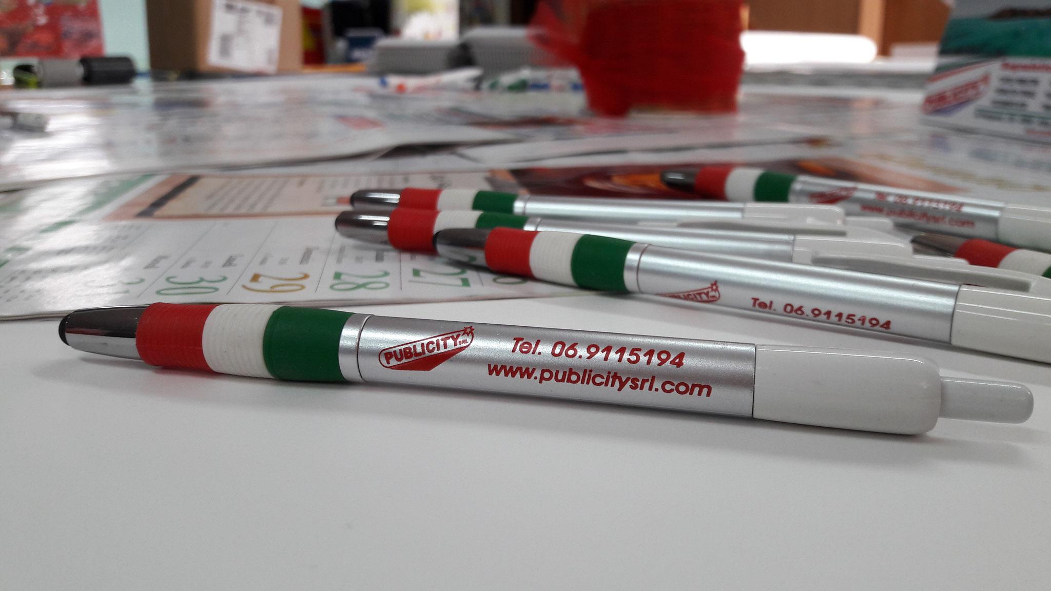 Penna con gommino per touch-screen, stampata ad 1 colore