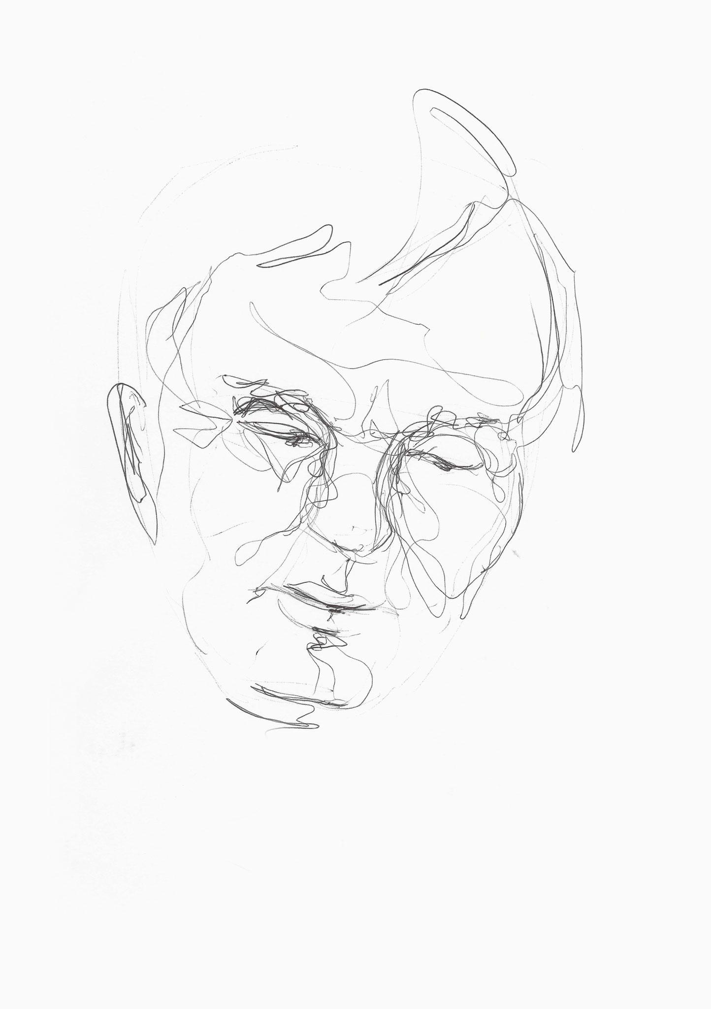 David, Kugelschreiber auf Papier, 2014, Damaris Rohner