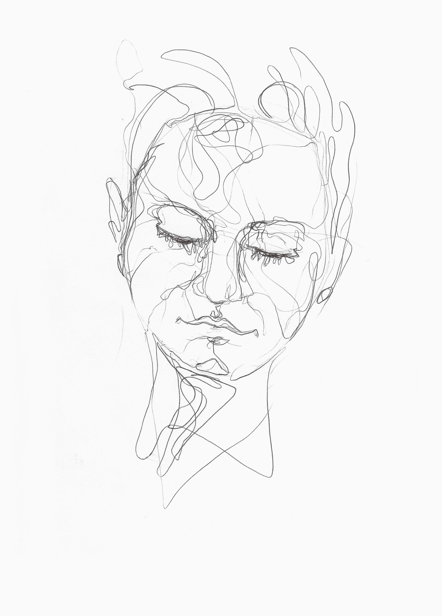 Rebekka, Kugelschreiber auf Papier, 2014, Damaris Rohner