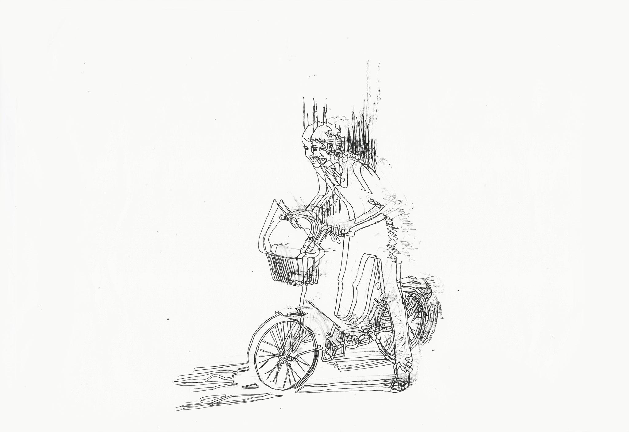 Fragment, Kopiertechnik Feinleiner auf Papier, 2015, Damaris Rohner
