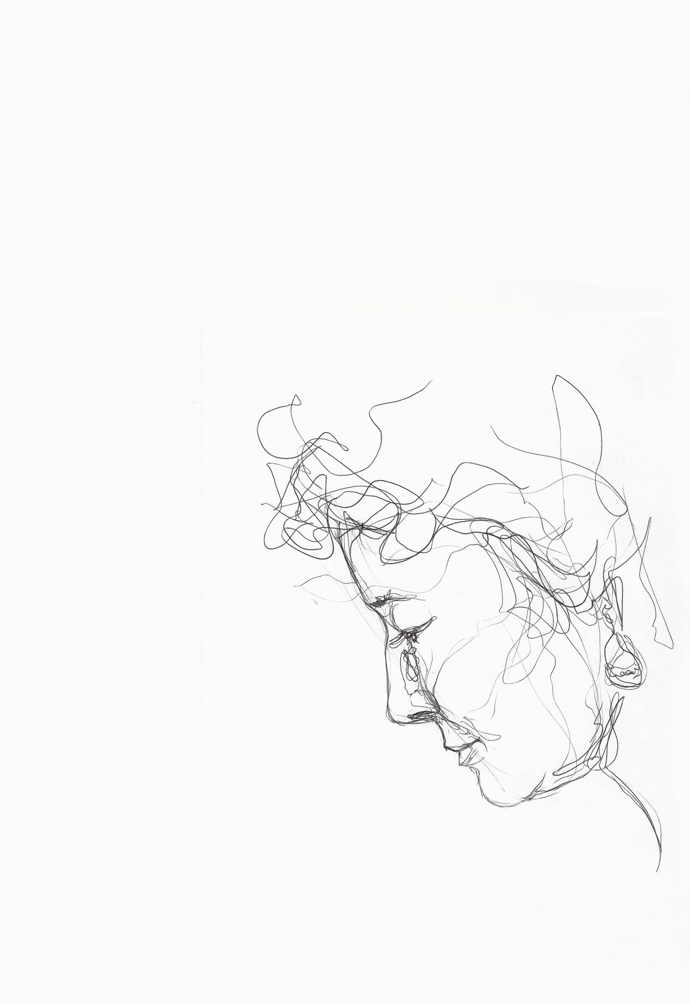 Cristina, Kugelschreiber auf Papier, 2014, Damaris Rohner