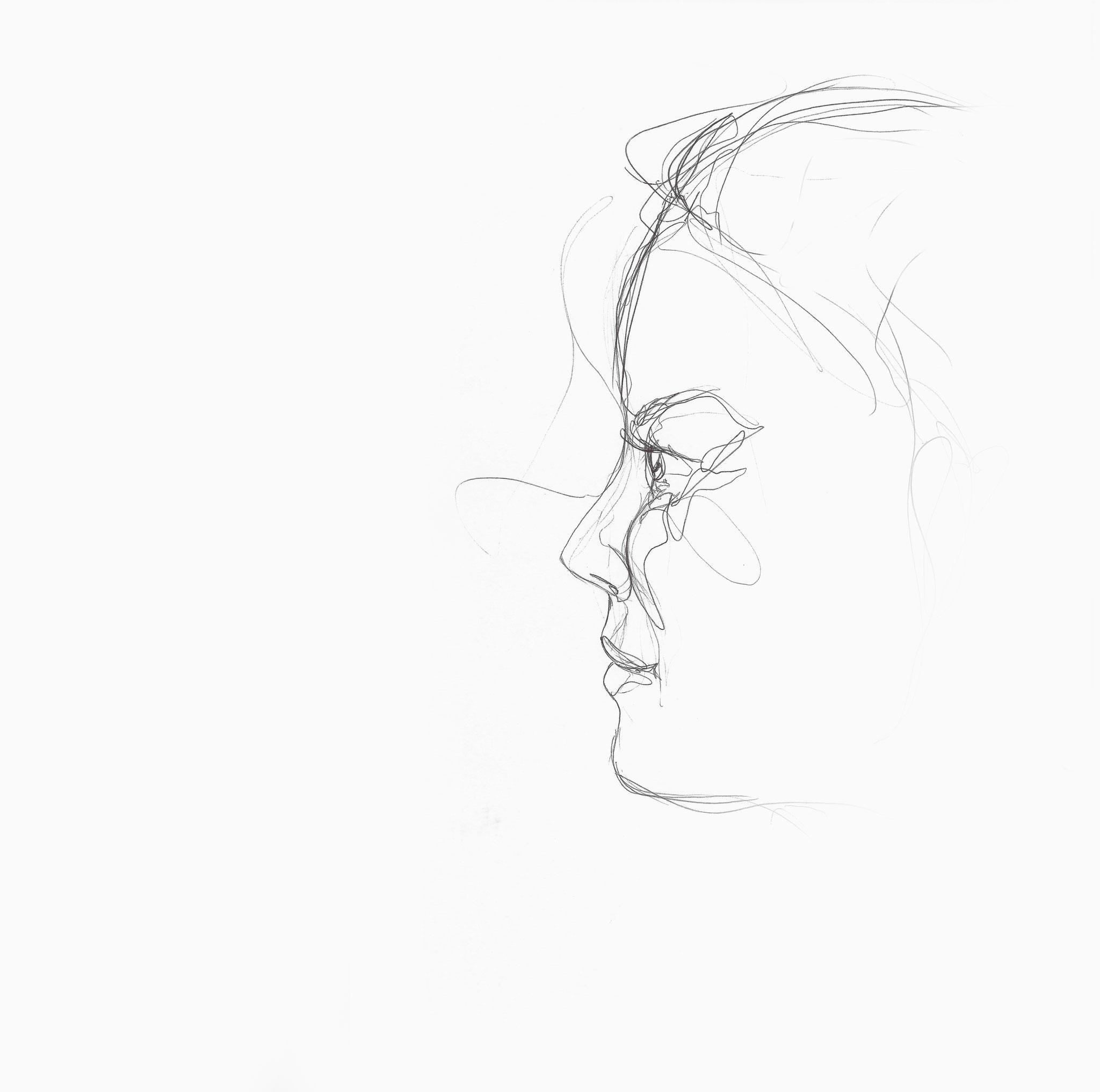 Sarah, Kugelschreiber auf Papier, 2014, Damaris Rohner