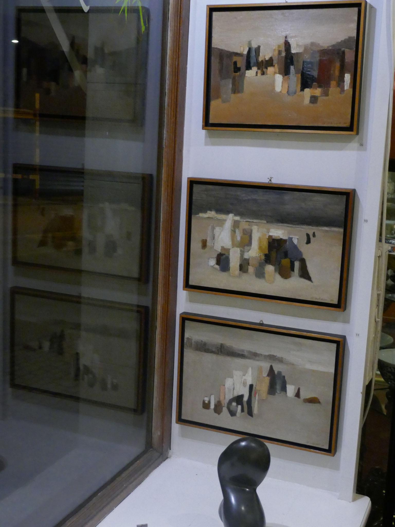 Pièce no  deux avec uniquement des tableaux de Claude Delessert et des statues de André Delessert, de Erwin Rehmann, André Ramseyer et de Frédéric Müller