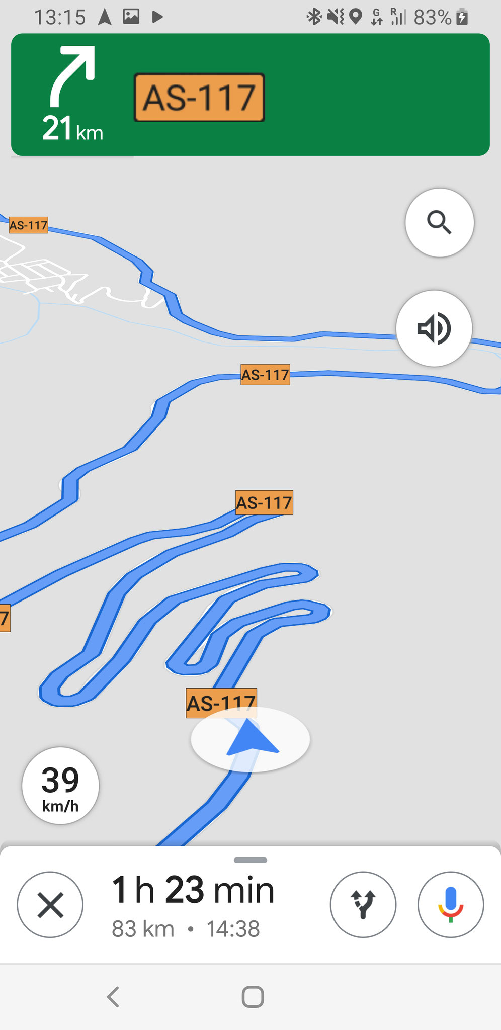 Ein paar Streckenausschnitte von Google Maps