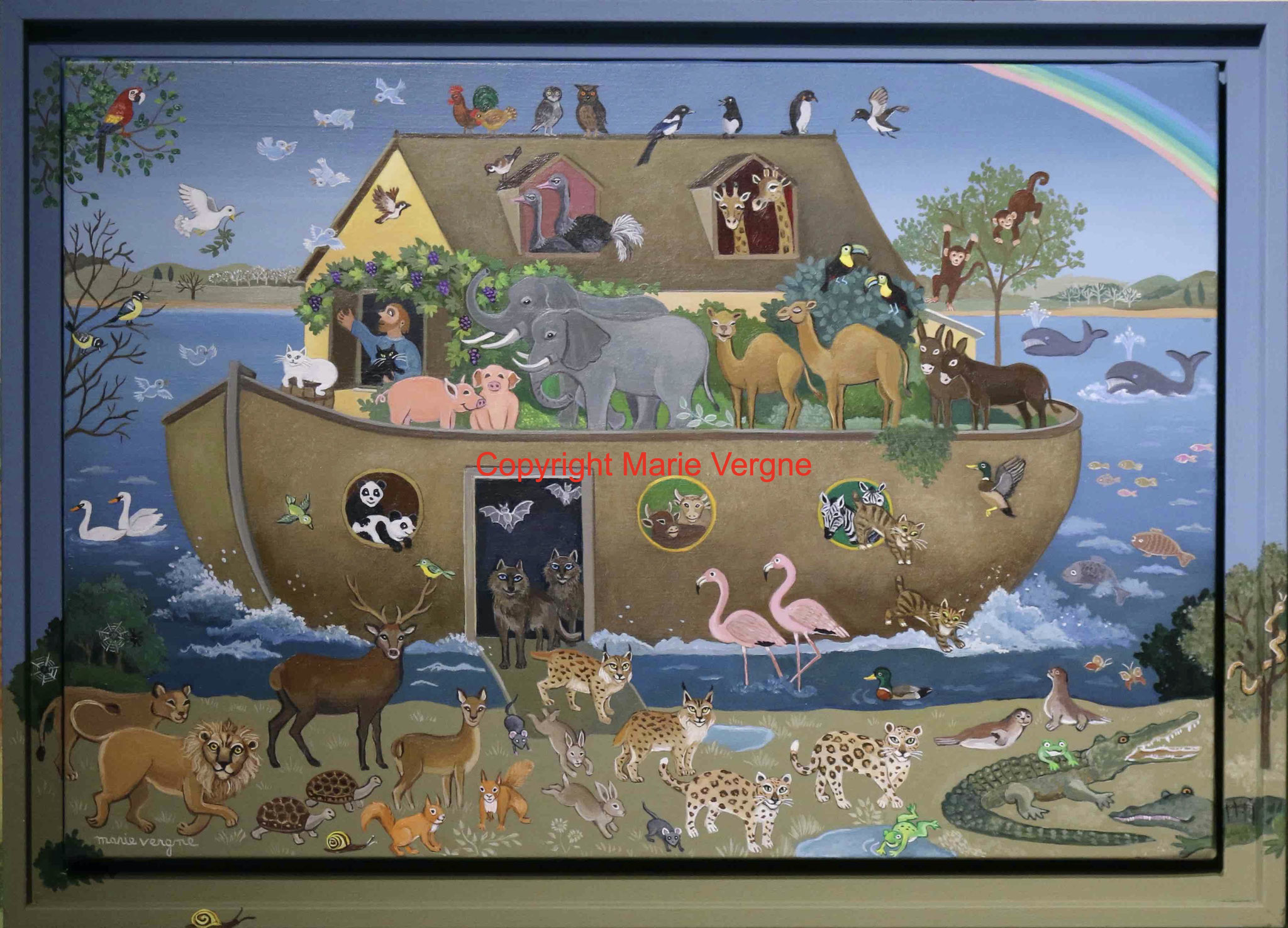 L'Arche de Noé   Format  10 F  55cm x 46cm    (VENDU)