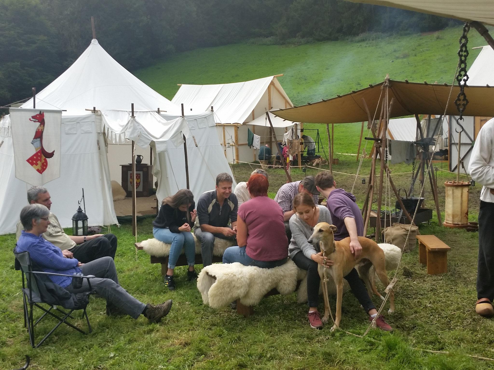 oberbergische Landroverfreunde im Lager