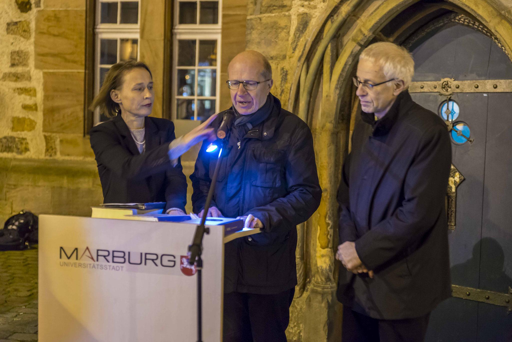 Pfarrerin Katja Simon, Dechant Franz Langstein, Propst Helmut Wöllenstein