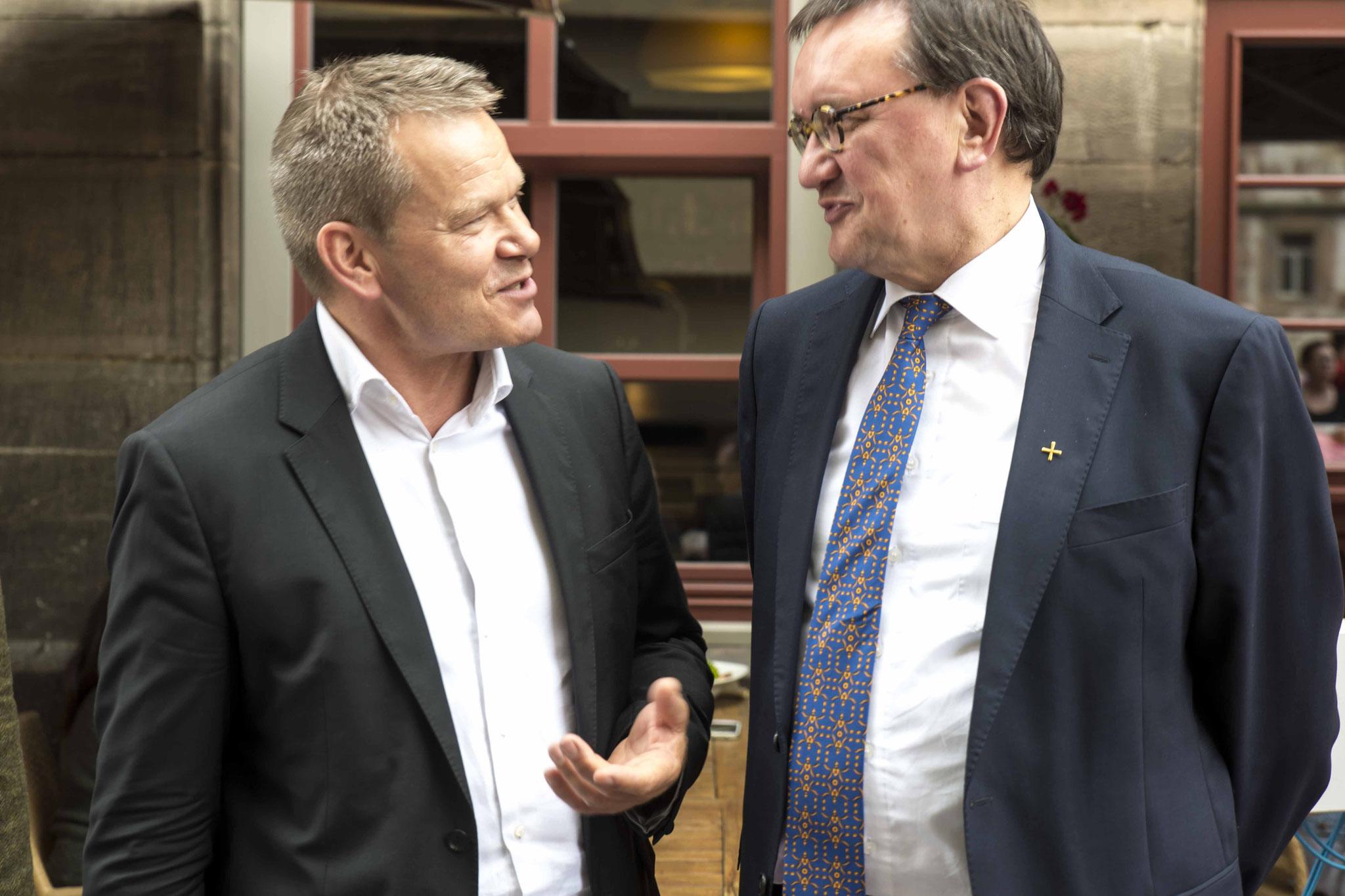 Oberbürgermeister Dr. Thomas Spies und Bischof Prof. Dr. Martin Hein