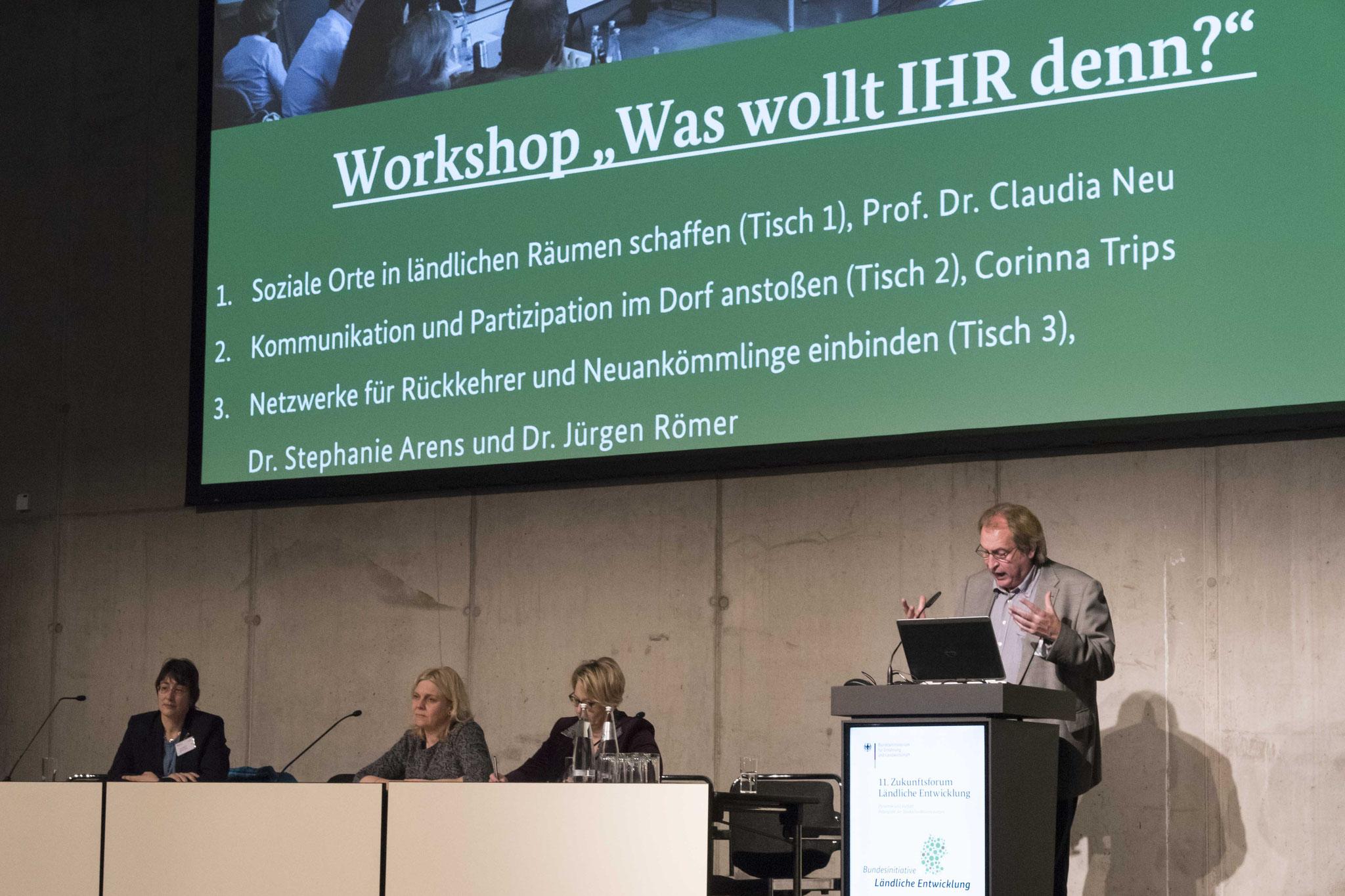 Workshop mit Dr. Jürgen Römer und Prof. Dr. Claudia Neu