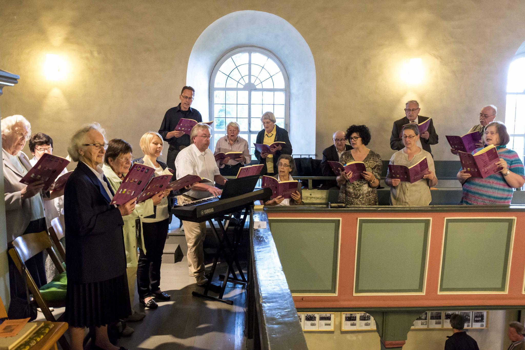 Der Kirchenchor der Gemeinde Sachsenberg