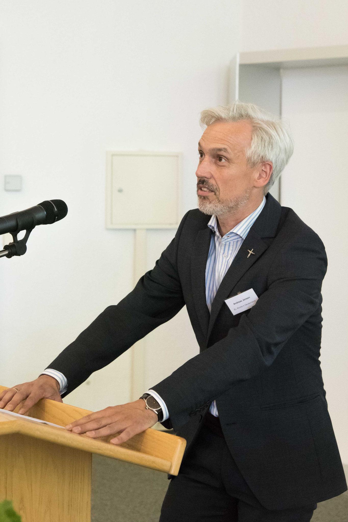 Eröffnung der Konferenz durch Kirchenrat Andreas Jensen, EKD