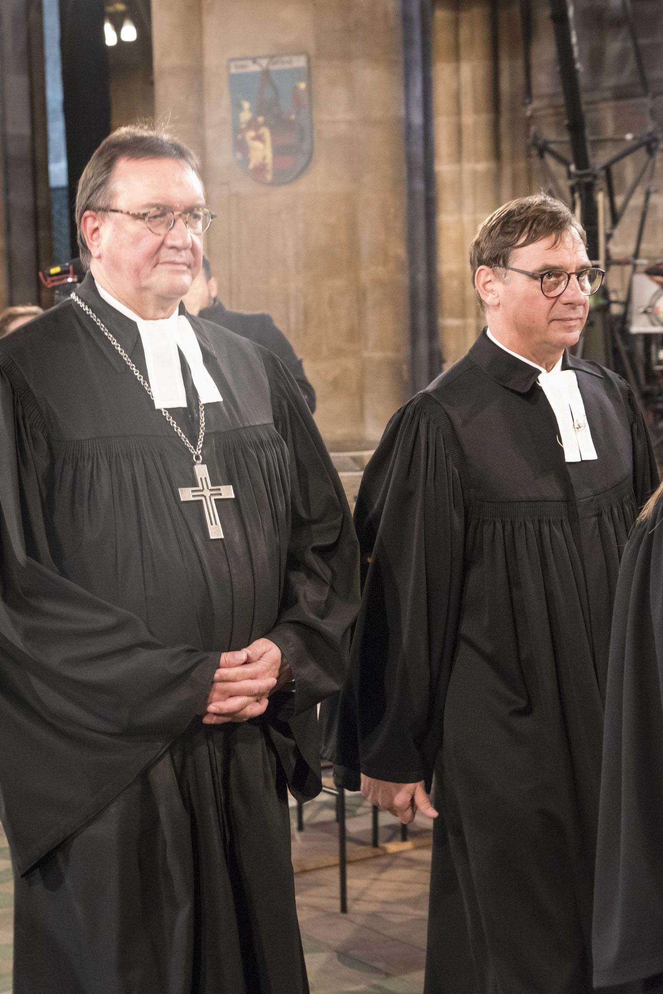 Bischof Hein und Kirchenpräsident Jung