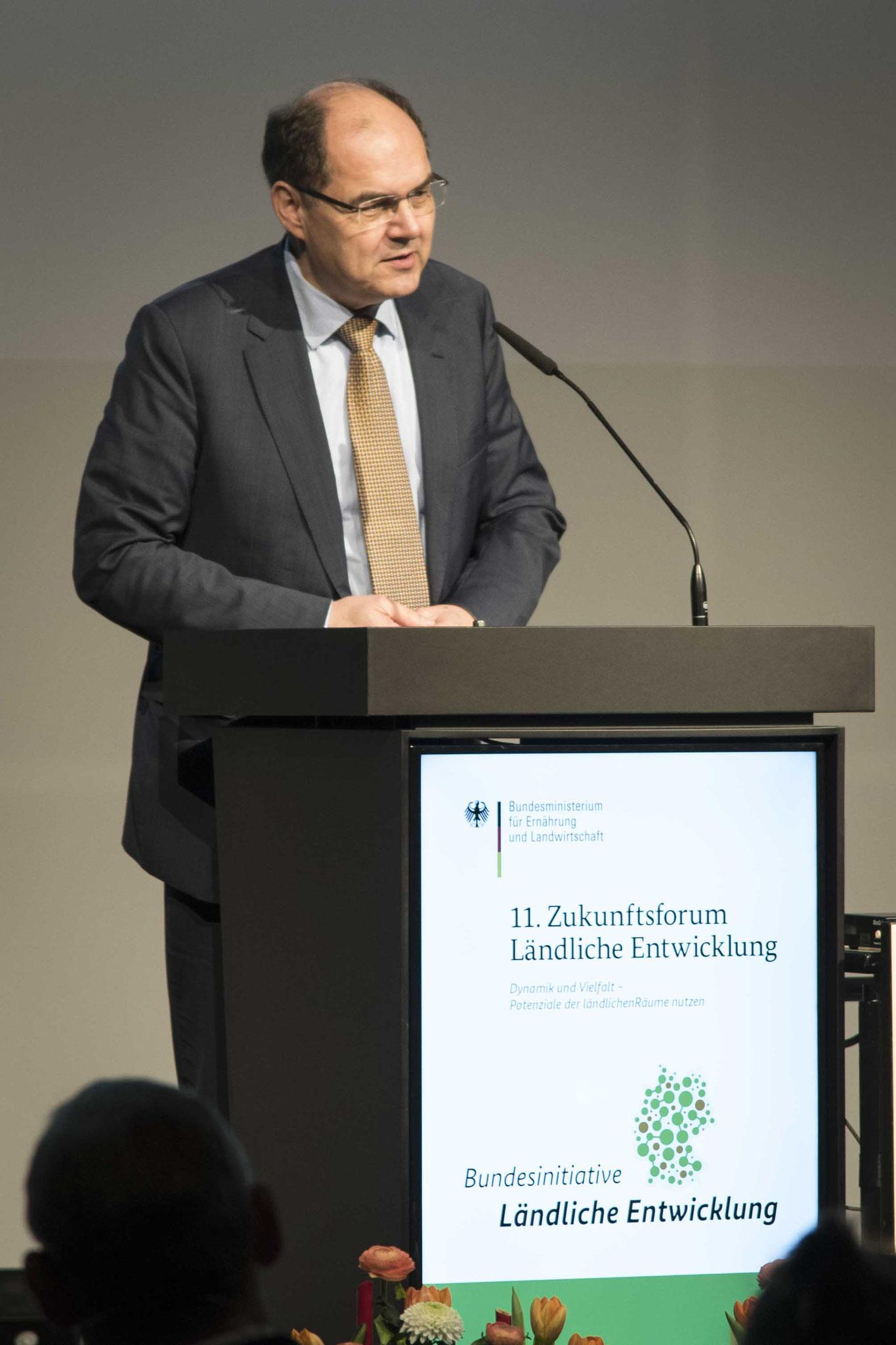 Eröffnung des Zukunftsforums durch Mininster Christian Schmidt