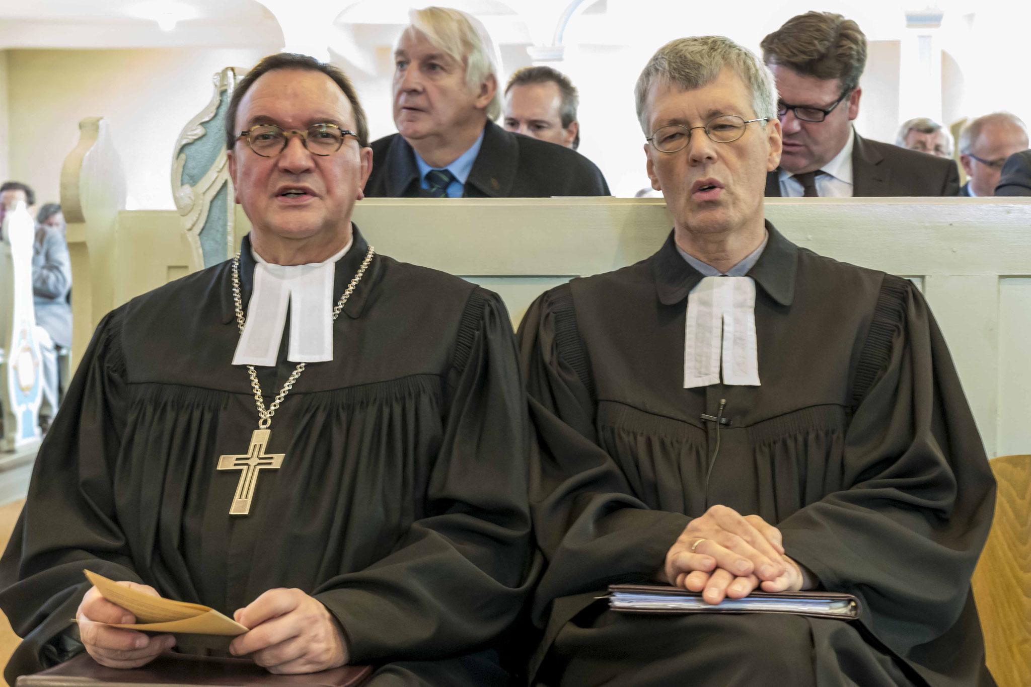 Bischof Hein und Pfarrer Lueg