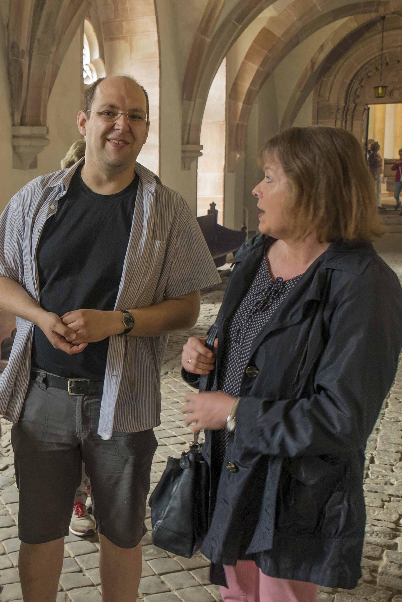 Dekan Petra Hegmann und Pfarrer Jörn Rimbach