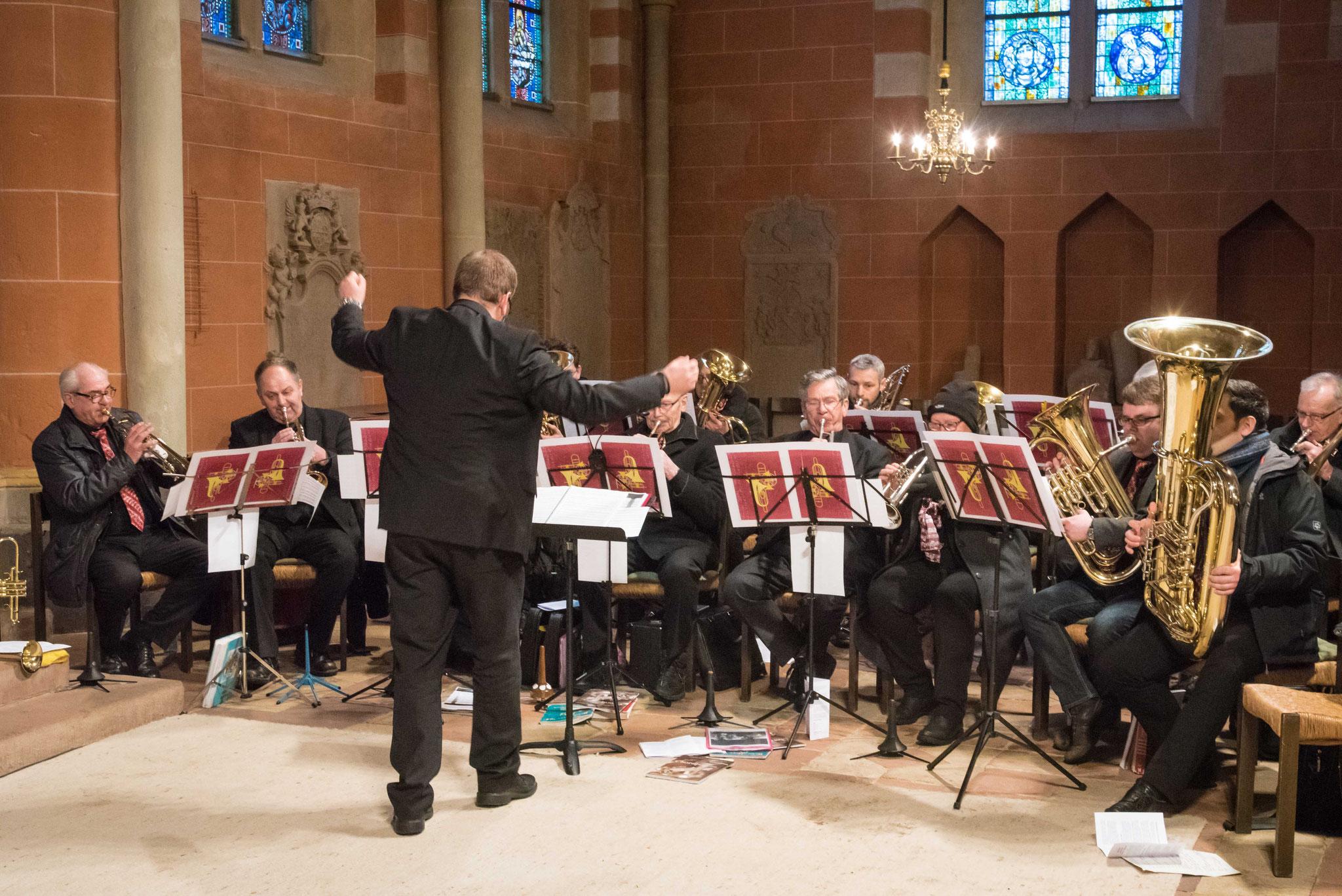 Der Posaunenchor Wetter-Todenhausen unter der Leitung von Martin J. Fischer