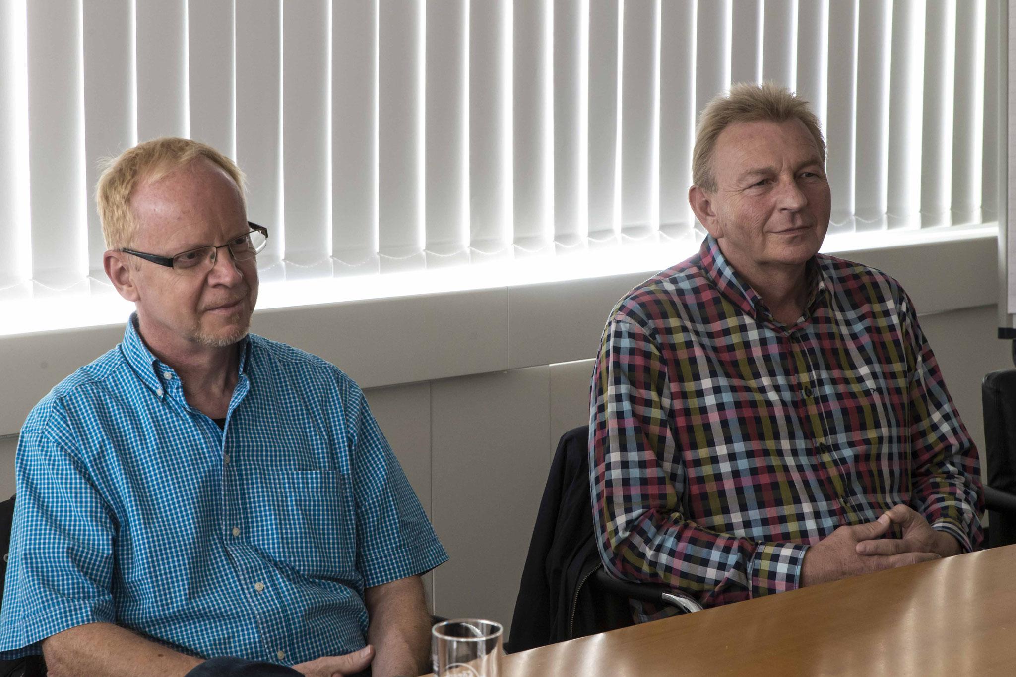 Gespräch mit dem Betriebsrat: Manfred Henke (v.l.n.r.) und Erhard Dersch