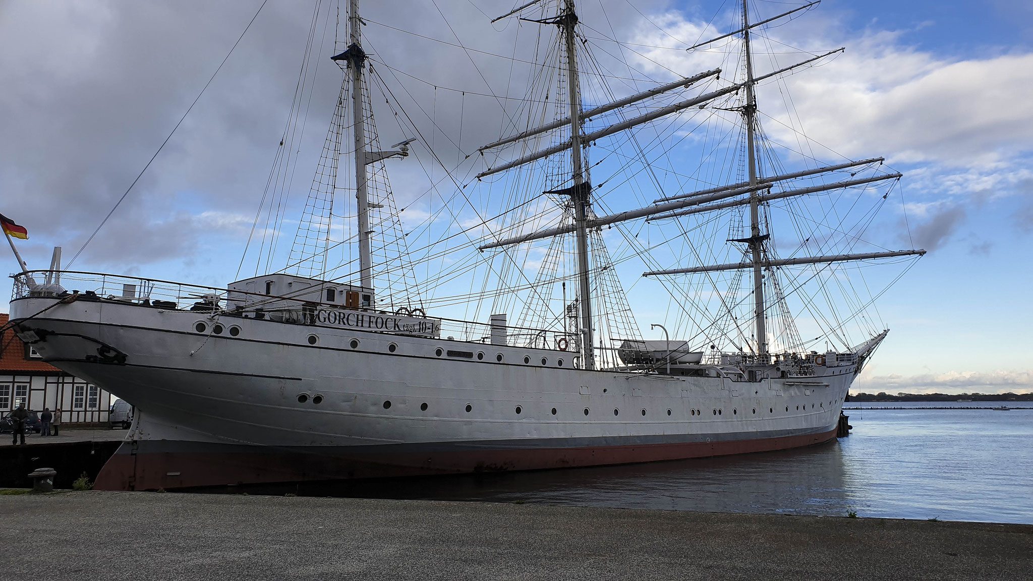 Die Gorch Fock in Stralsund