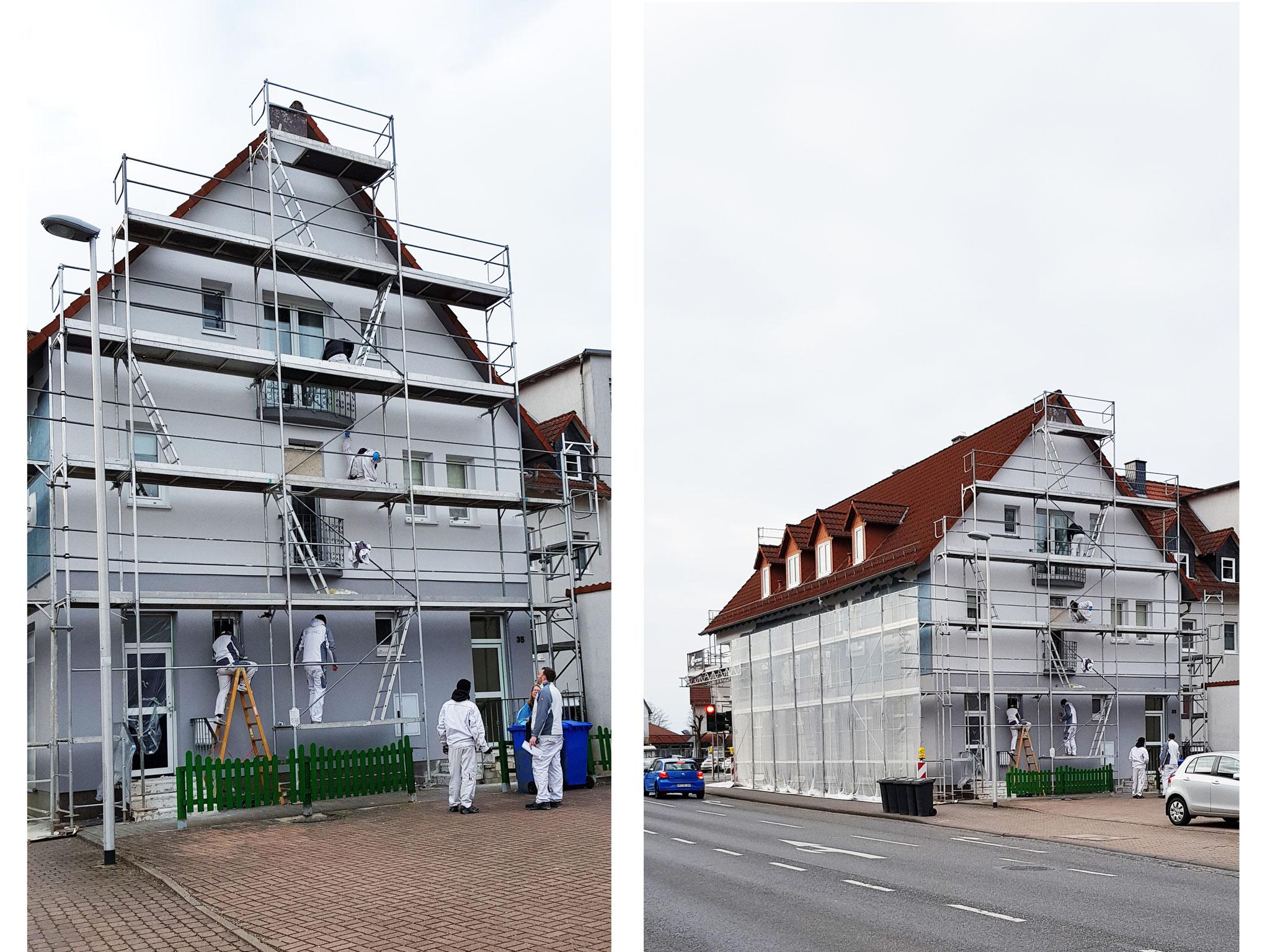 Gerüstarbeiten, Fassadenanstrich, Sockelputz Schwalmstadt