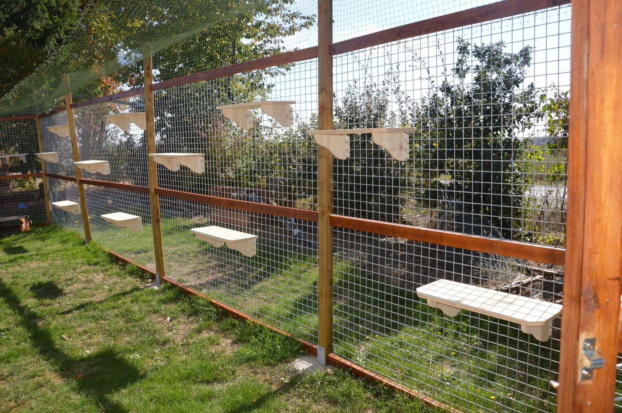 Enclos attenant à la terrasse couverte de 91,60m²