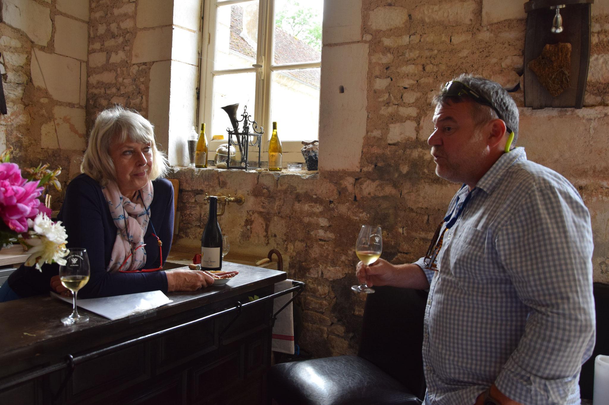 Weindegustation in Frankreich