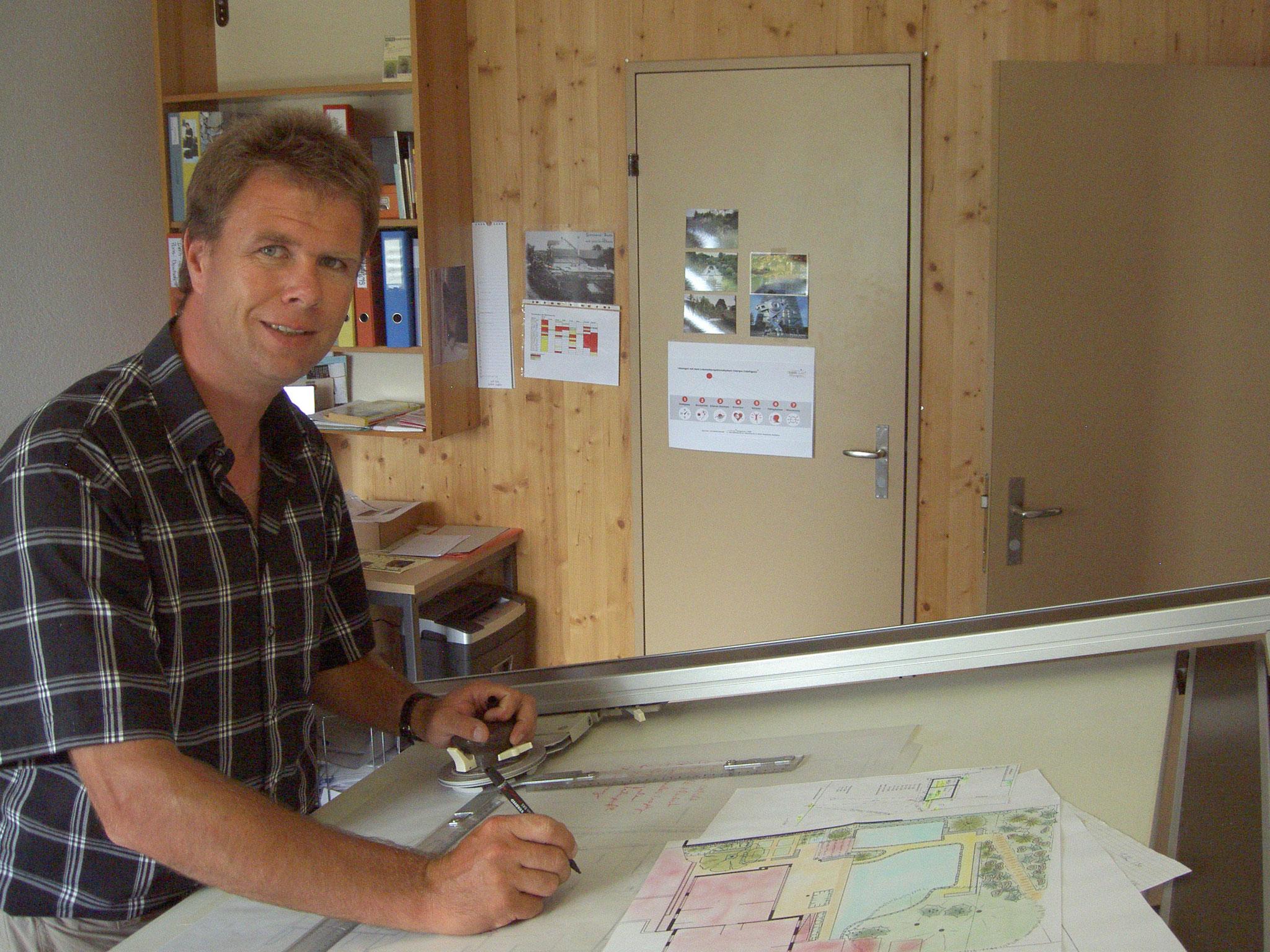 Hier entsteht die individuelle, Kunden- und Objektbezogene Gartenplanung