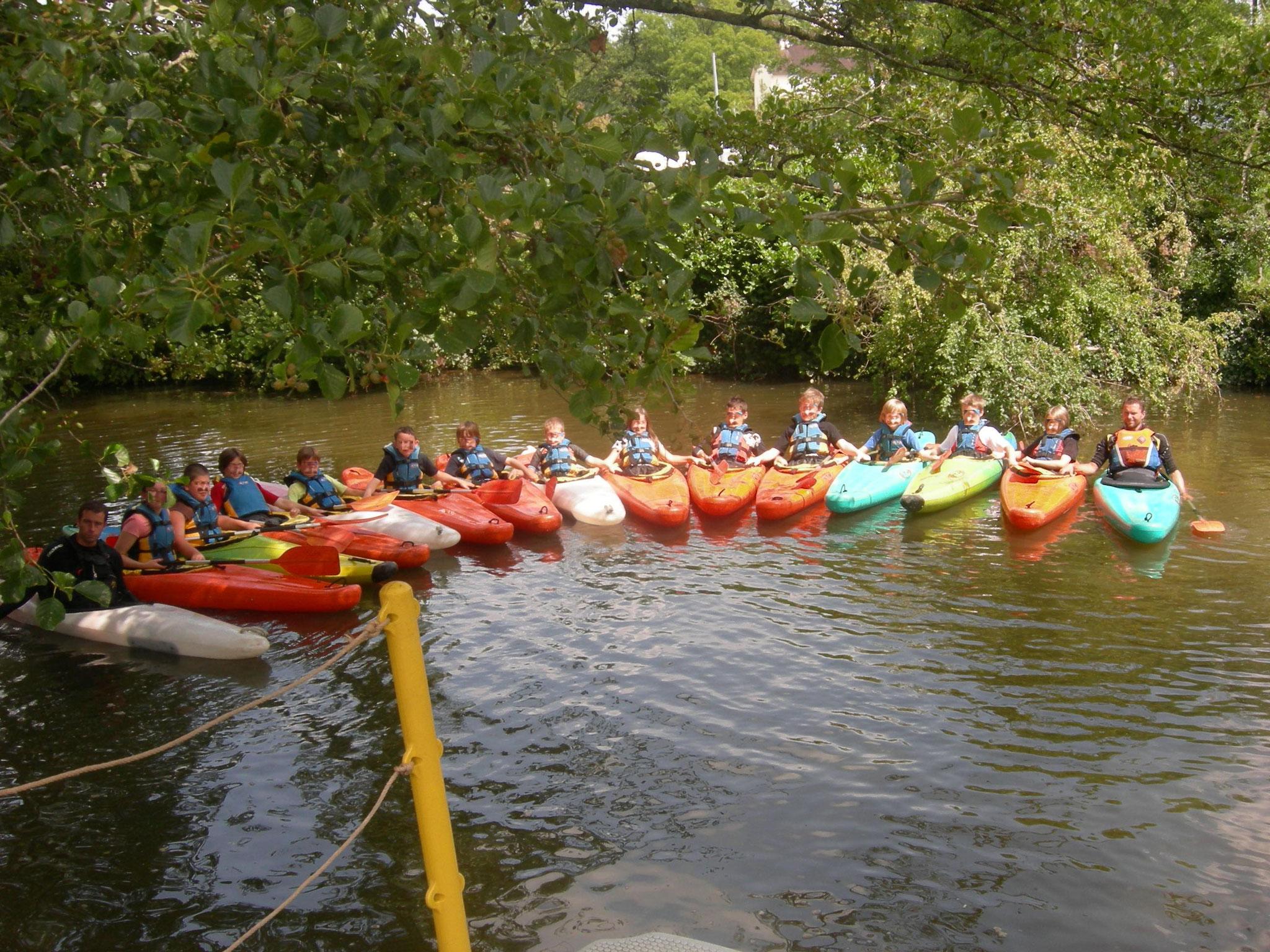 Séance kayak avec centre de loisirs!!