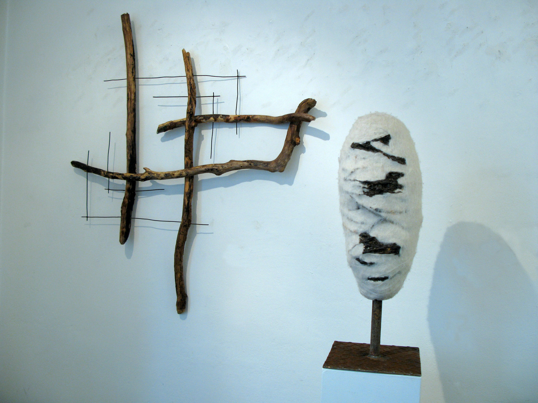 Fragment Nr.3 ausgerichtet, Kraftobjekte Wolfgang Wallner Hall in Tirol