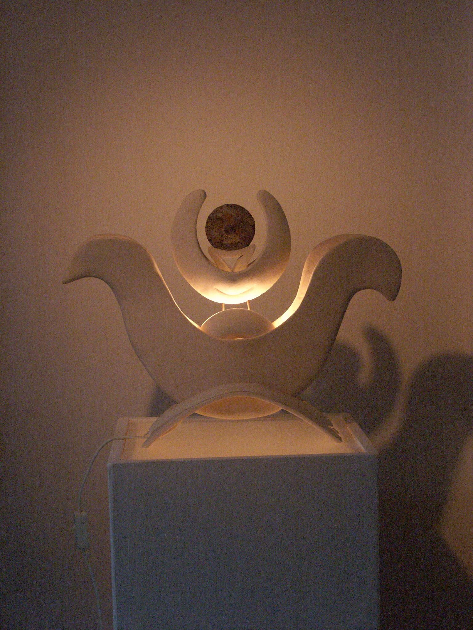 Sonne und Monde, Lichtobjekt, Kraftobjekte Wolfgang Wallner Hall in Tirol
