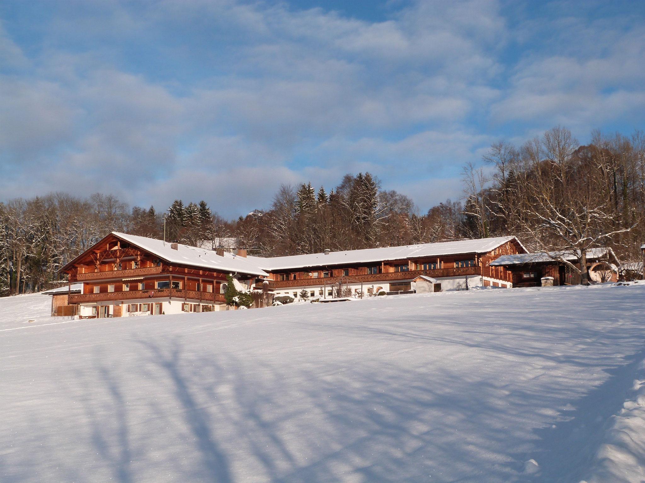Der Georgihof im Schnee