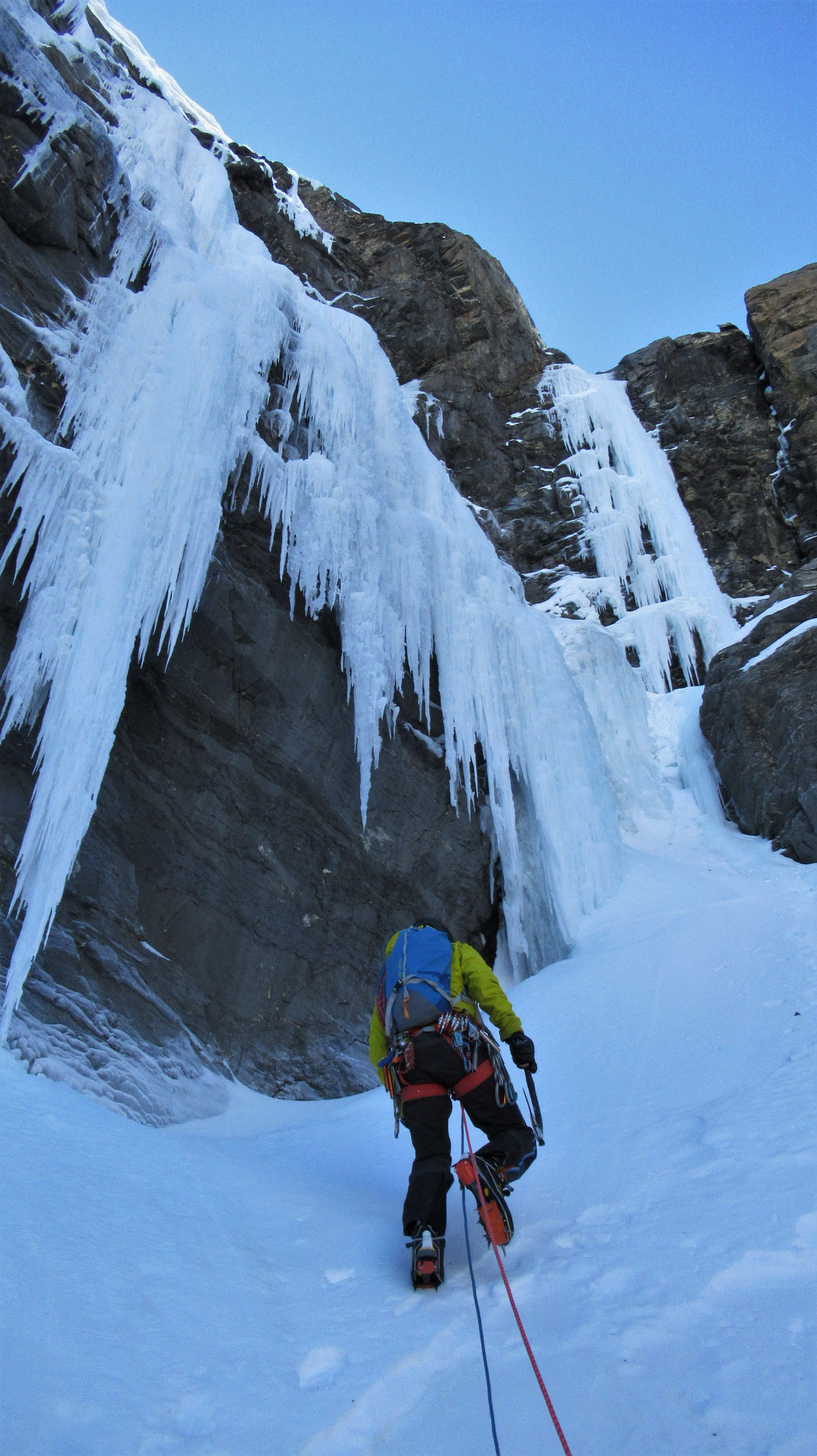 Le final  -  Cascade guide Maurienne