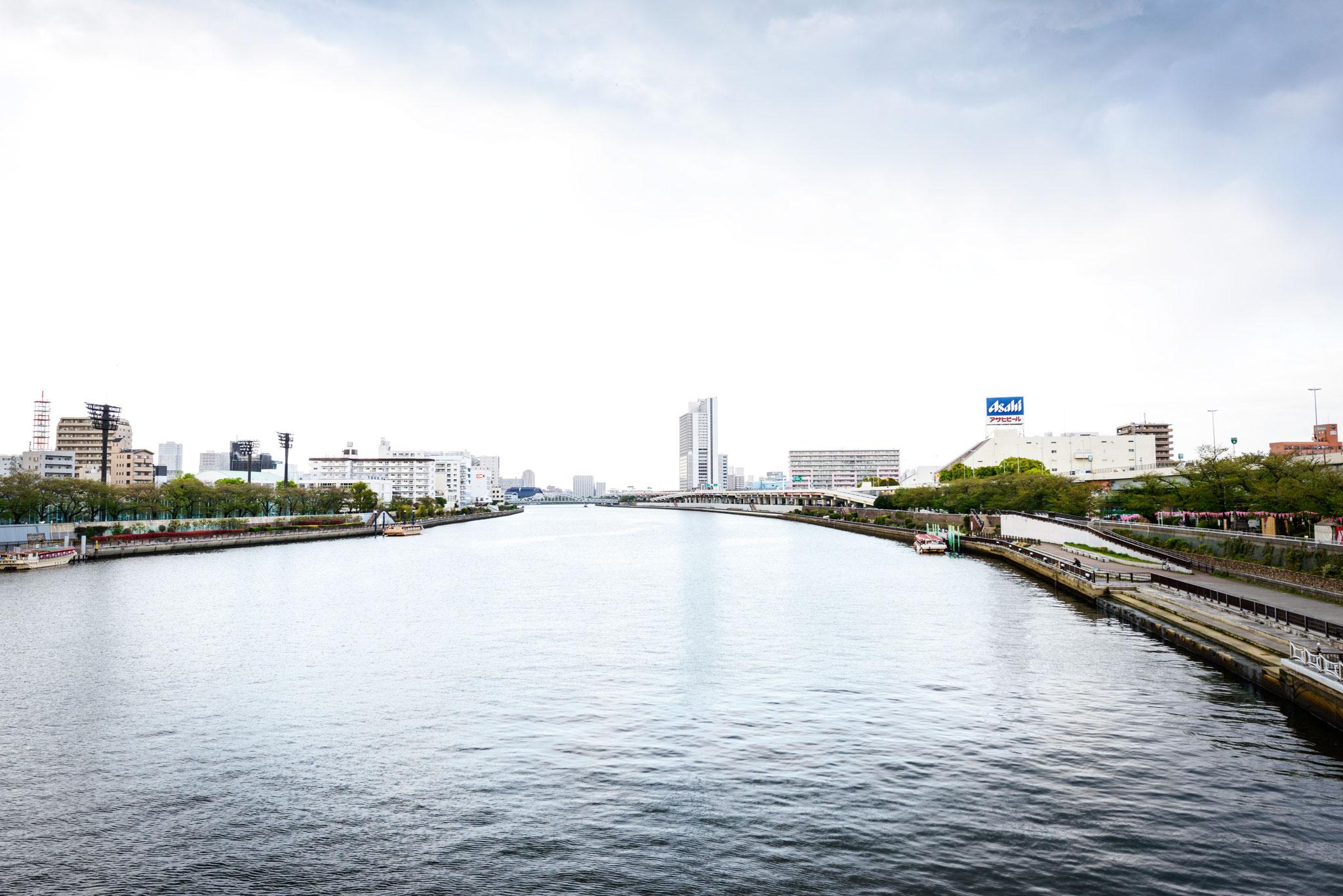 桜橋から見る現地方面