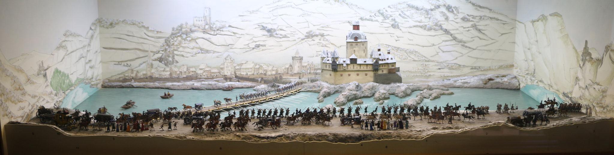 Rheinübergang der Preussischen, Schlesischen und Russischen Truppen am 2. Januar 1814