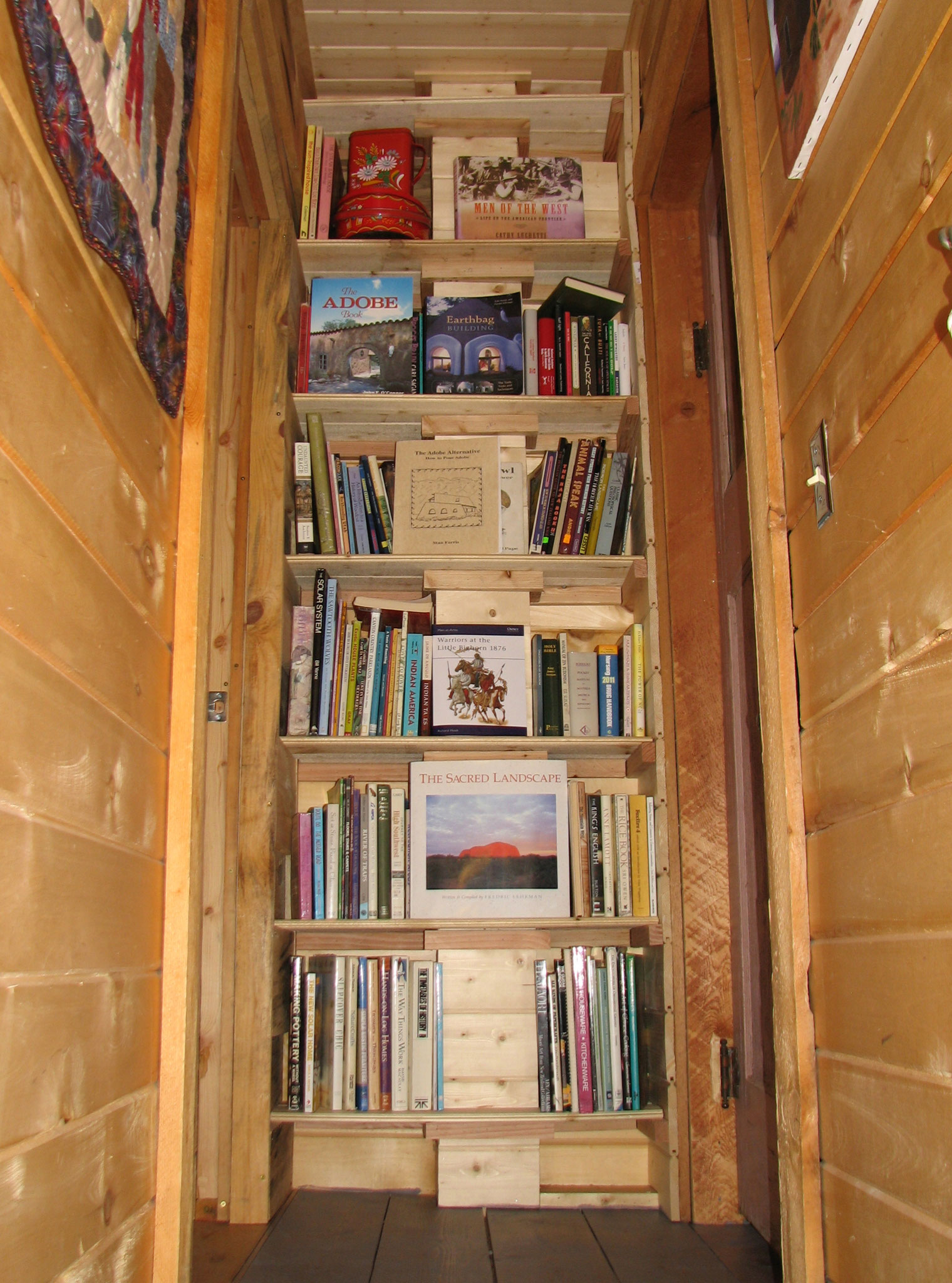 Bookshelves at Top of Second Floor Stairs