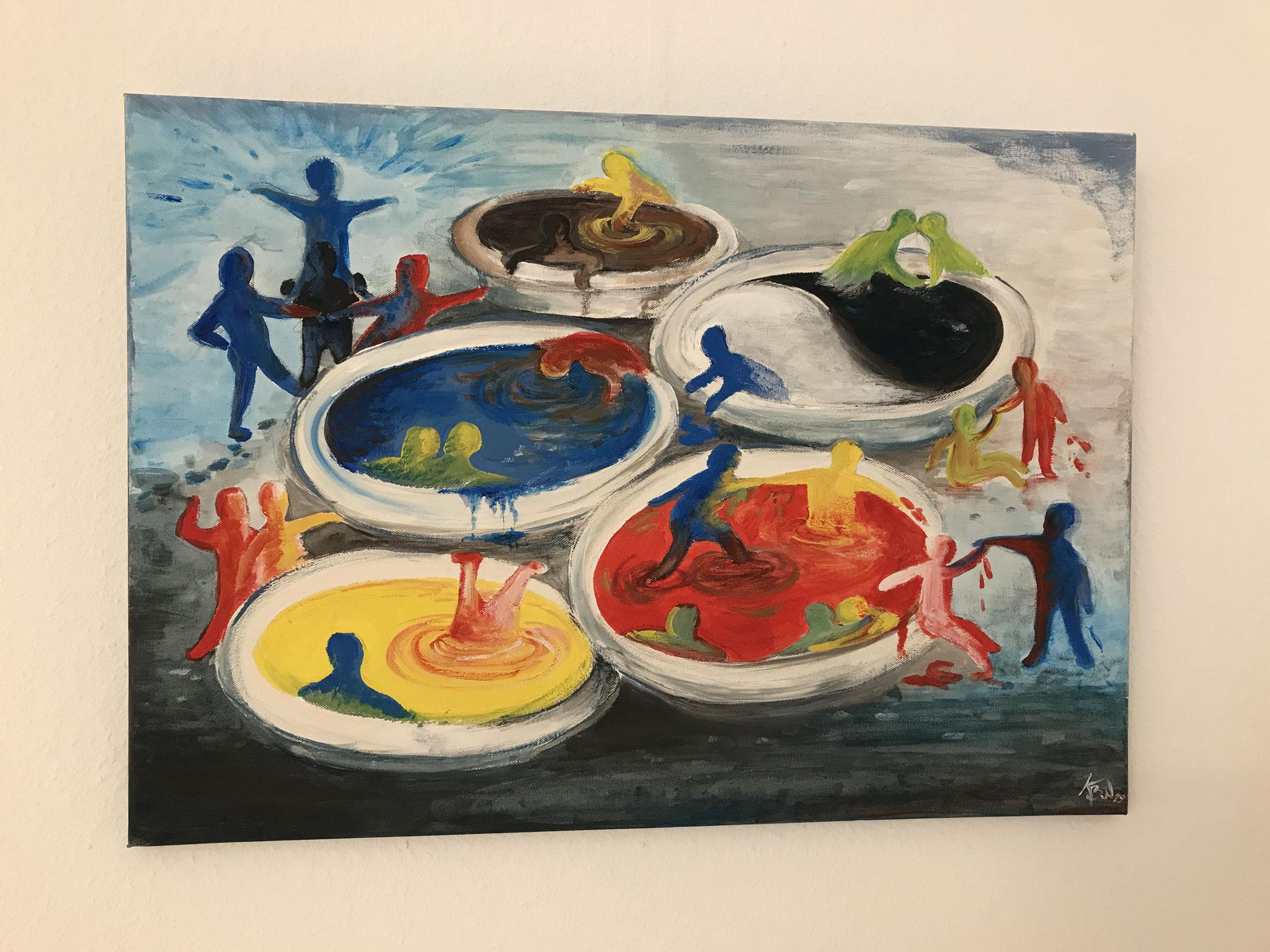 Karin Braubach-Winkel - Gemälde (Foto: Heike Warming)