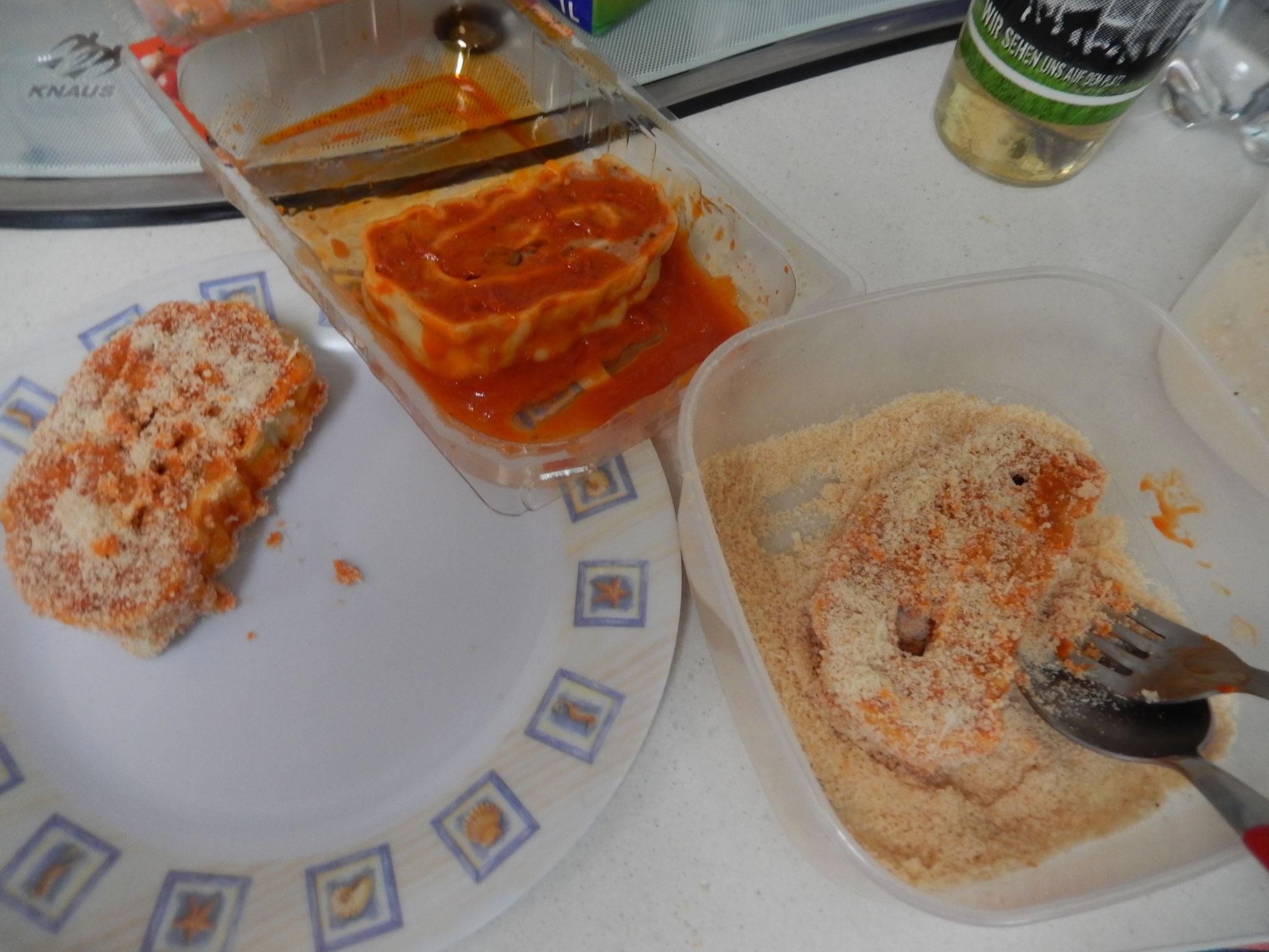 auch die Maultaschen hab ich darin gewedet da Käse zu Nudeln doch immer paßt.