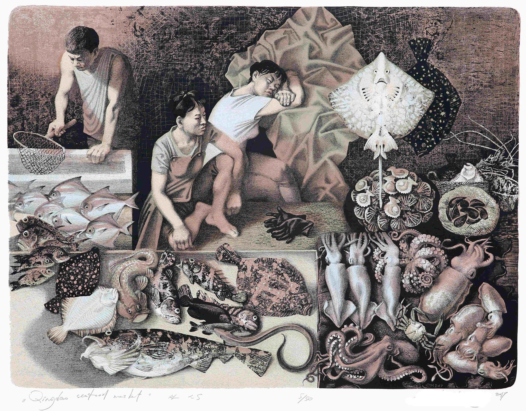 """Oleg Mikhailov (Russia) """"Qingdao seafood market"""" (Serie)"""