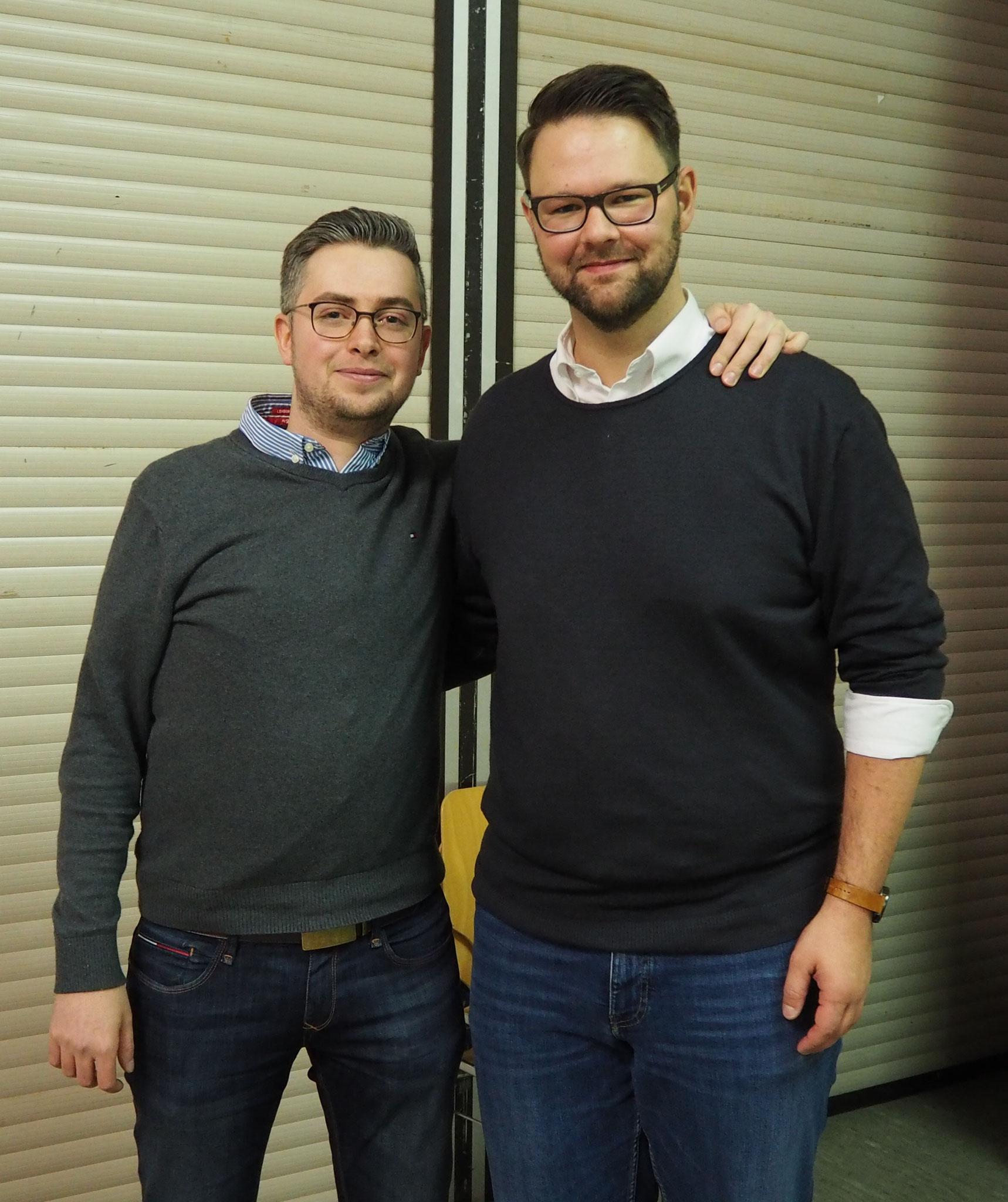 Der Kassier Jan Wieseler (rechts) verlässt aus beruflichen Gründen den Vorstand, Marc Rosenkranz folgt ihm nach